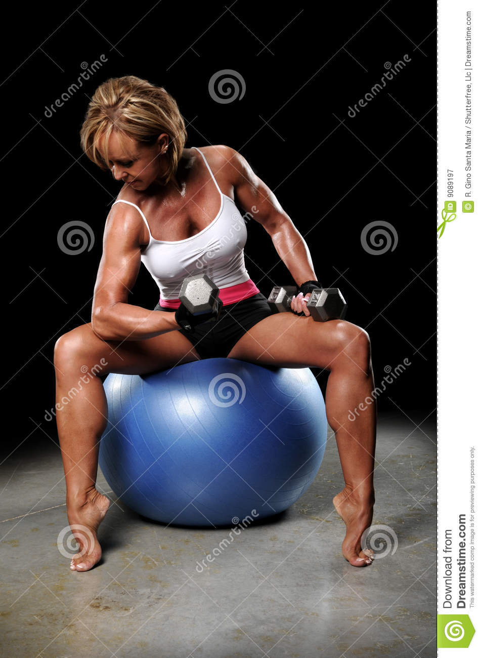 Dumbbells For Sale >> Mature Woman Working Out stock image. Image of woman ...