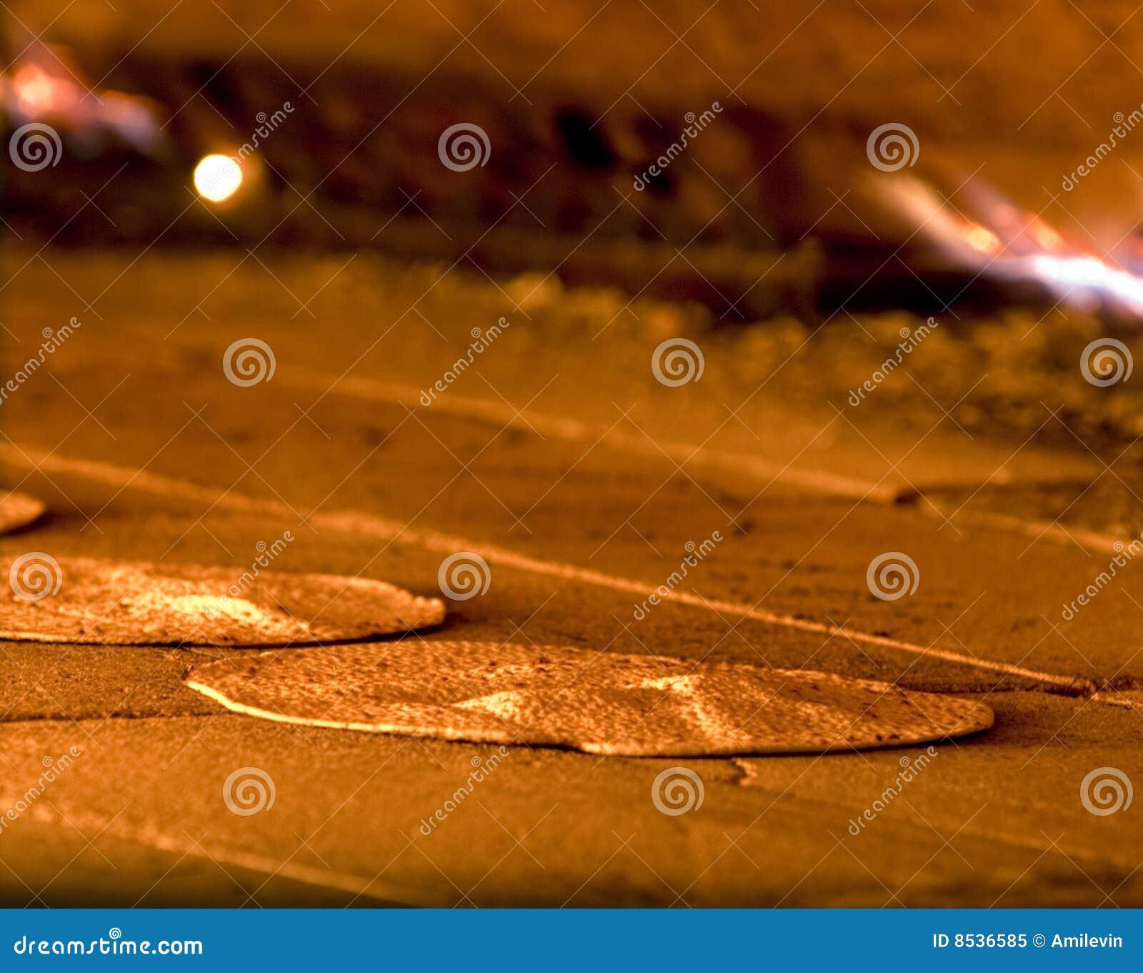Matzah being baked