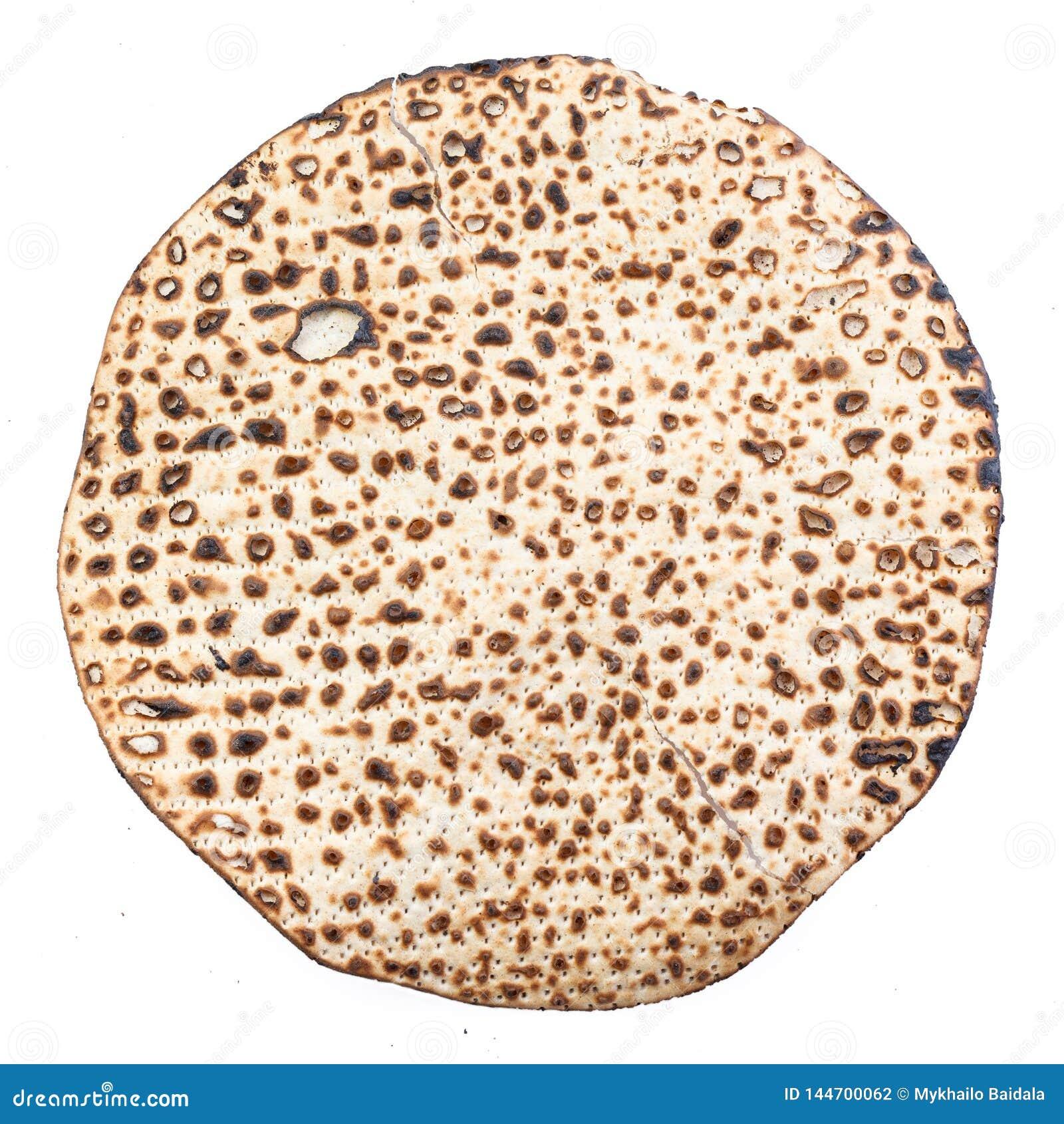 Matzah. Jewish traditional Passover bread. Pesach celebration symbol