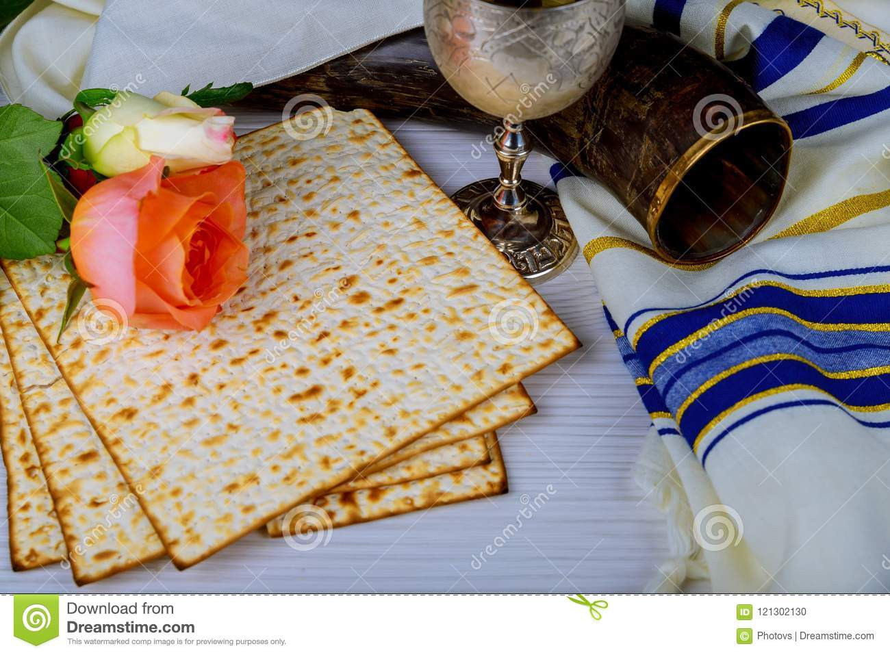 Matzo For Jewish Holiday Passover, An Of Jewish Cuisine Of
