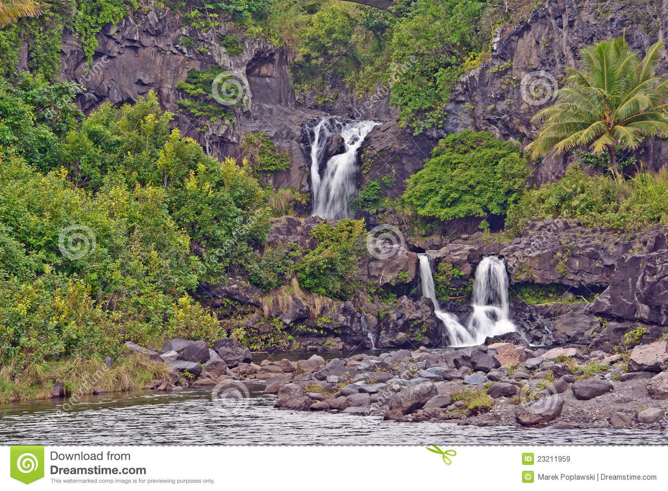 Maui S Seven Sacred Pools Royalty Free Stock Images