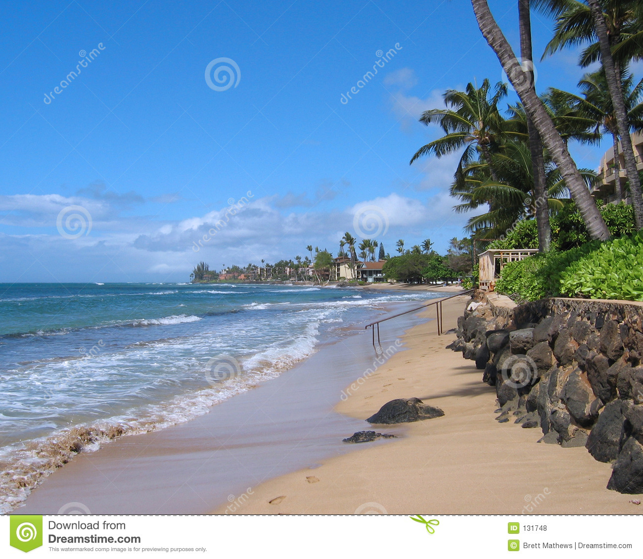Maui Hawaii Beaches: Maui Beach Royalty Free Stock Photos