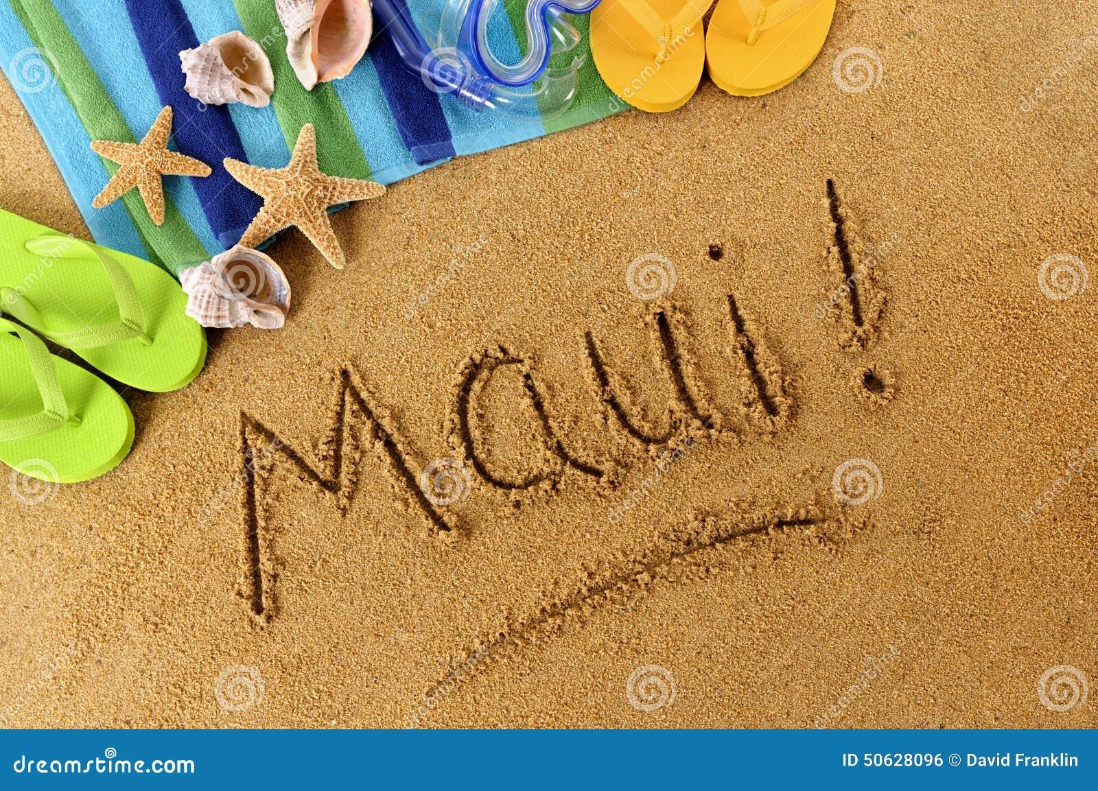 maui hawaii beach sand word writing stock photo image scuba diver clipart scuba diving clipart
