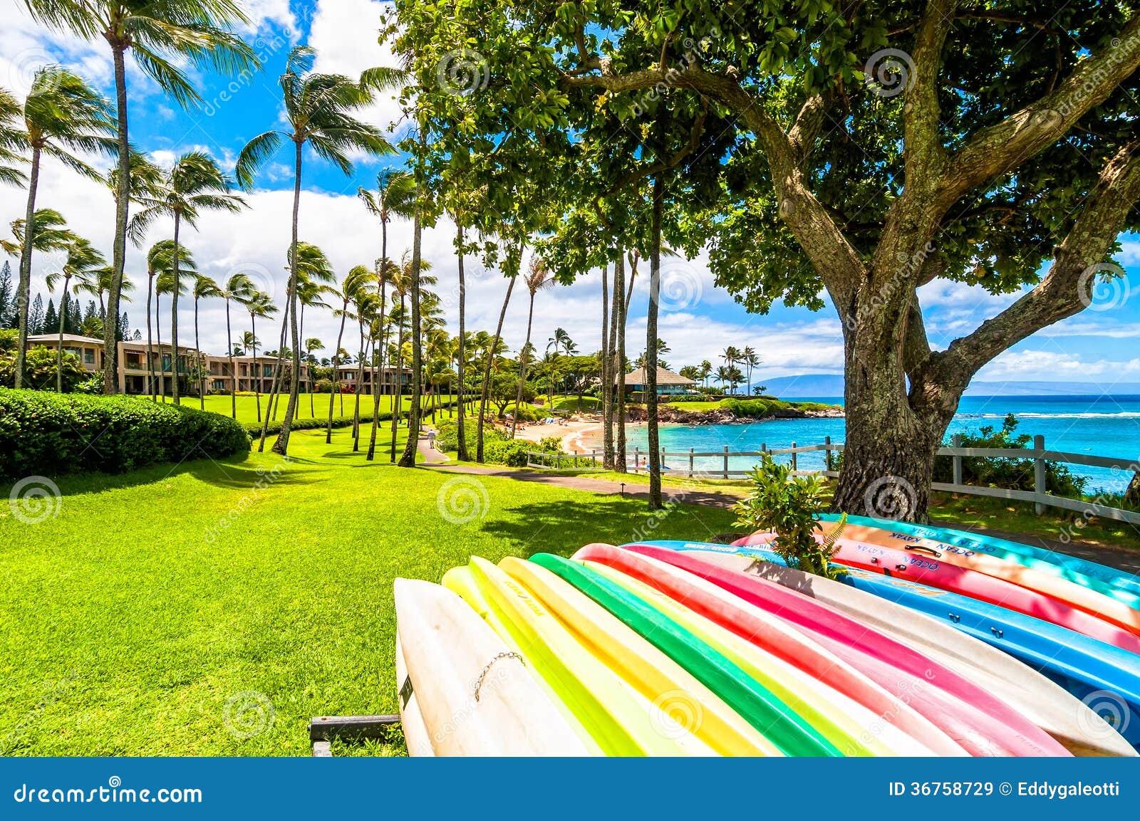 Maui S Famous Kaanapali Beach Resort Area Editorial Stock