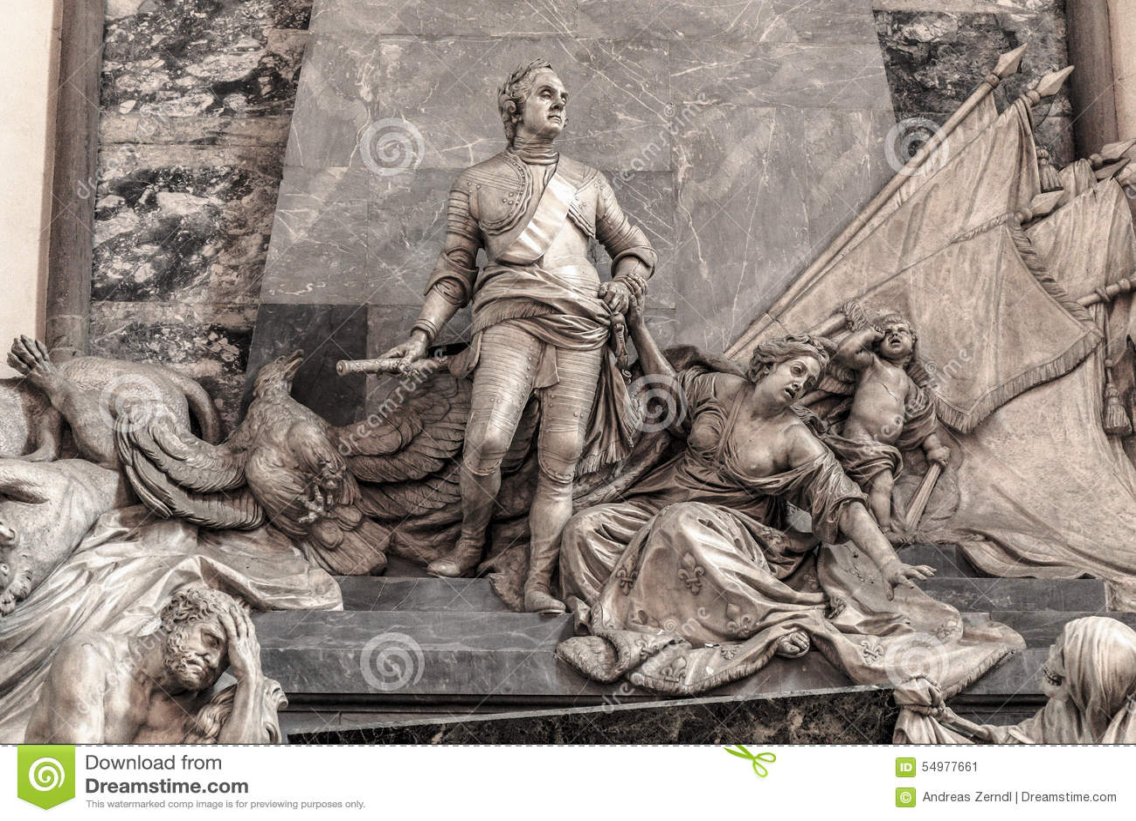 Maurice av den Sachsen minnesmärken i Strasbourg