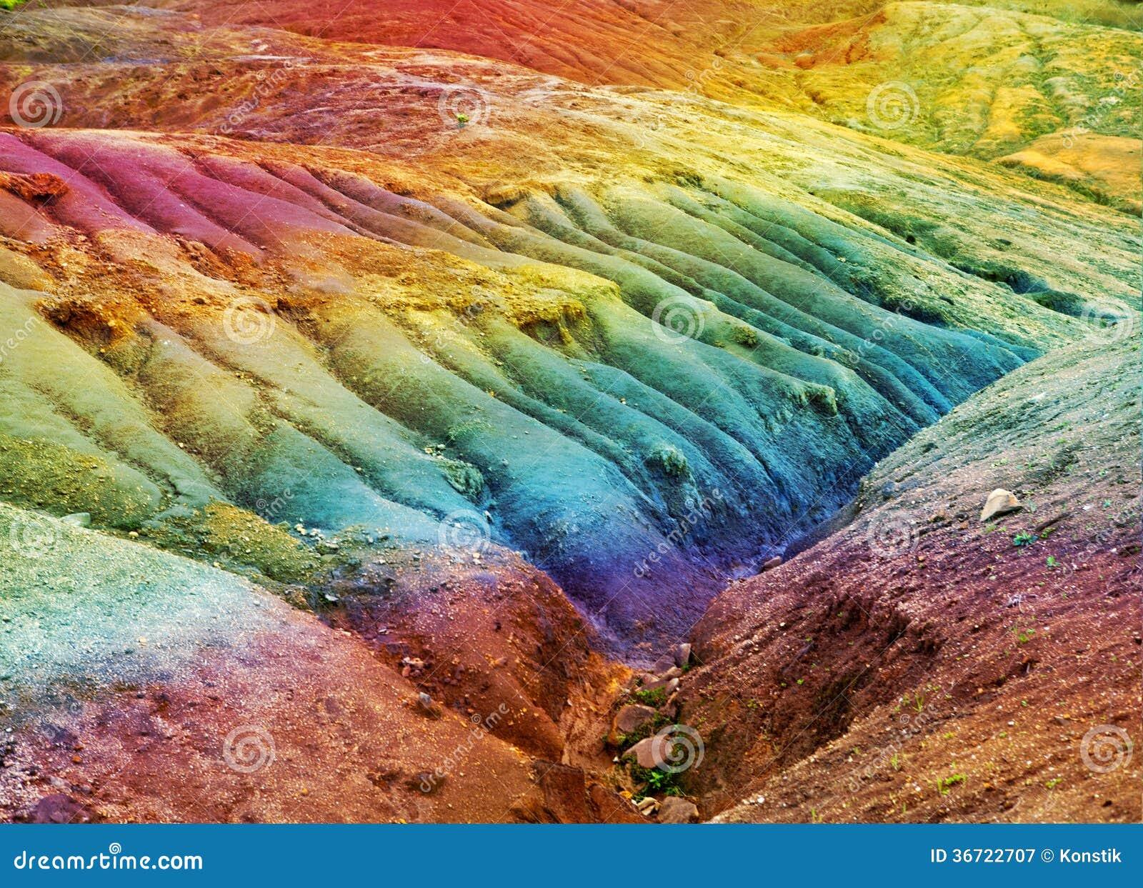 Mauritius - Erde Von 23 Farben. Landschaft An Einem Sonnigen Tag ...