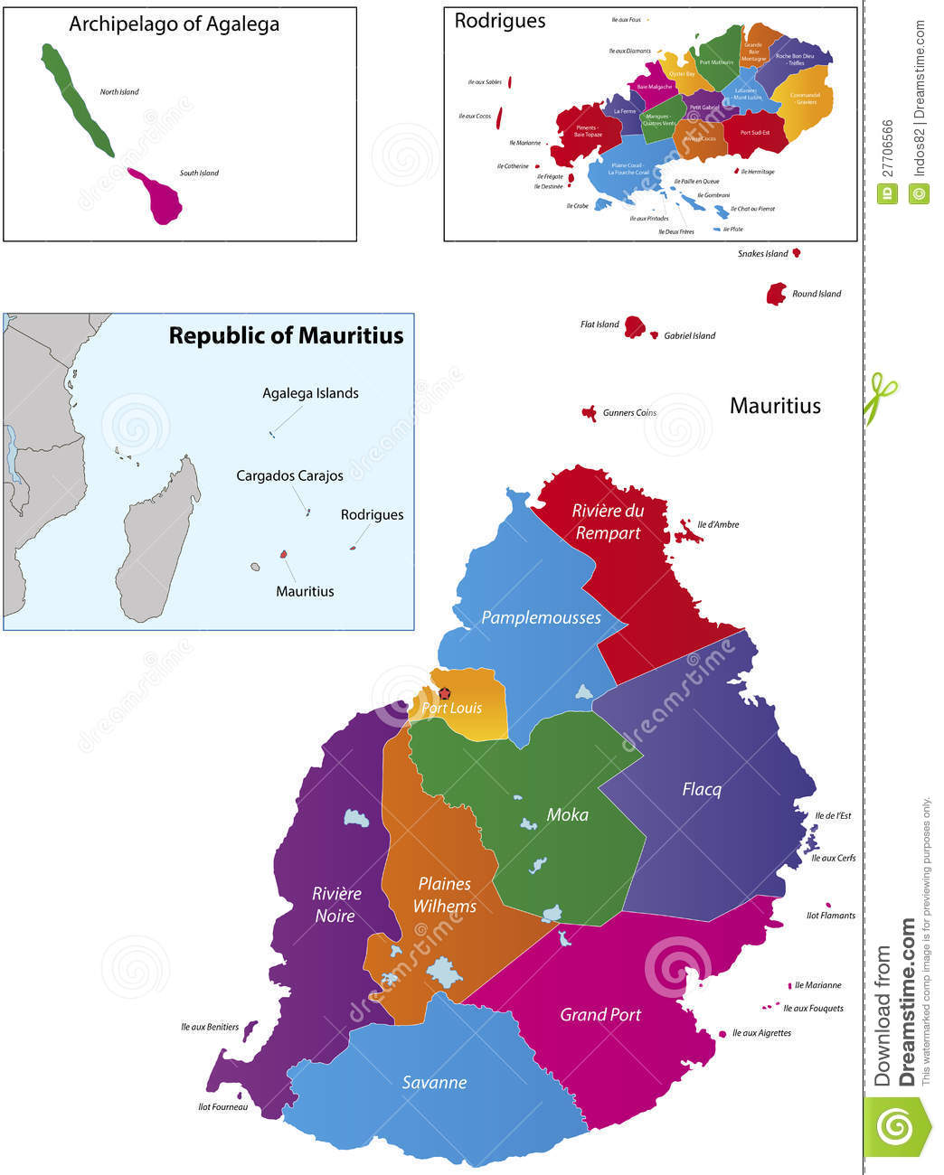 Mauritius Map Royalty Free Stock Image Image - Political map of mauritius
