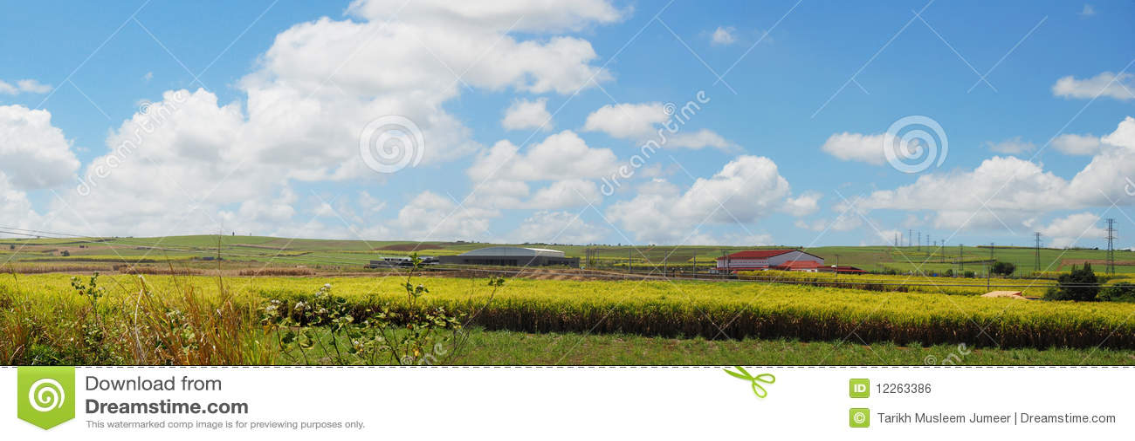 Mauritius panoramiczny krajobraz