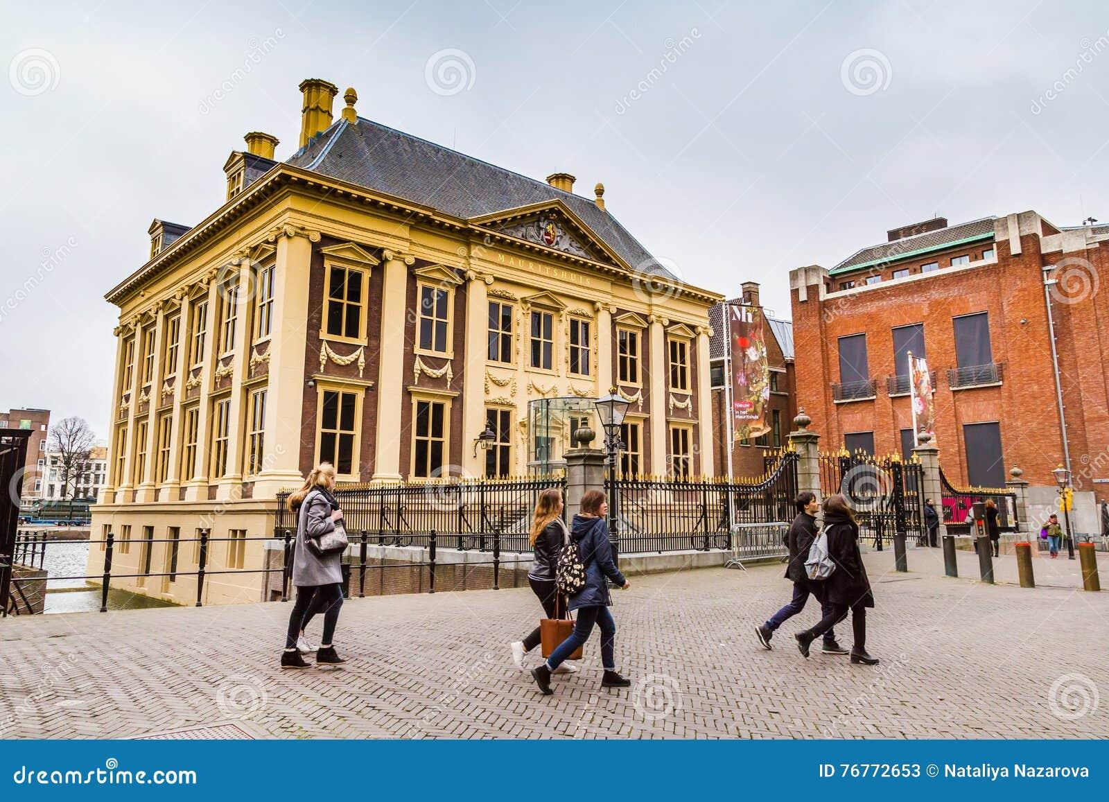 Mauritshuis или музей изобразительных искусств дома Мориса в Гааге, Голландии