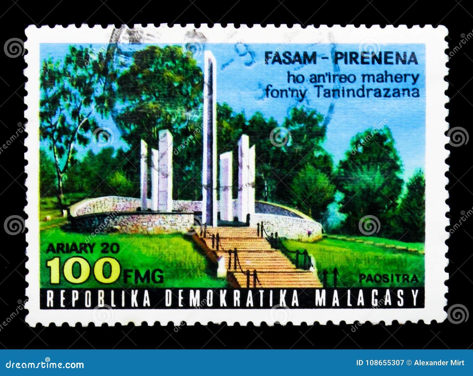 Mausolée national à Antananarivo, serie de héros nationaux, vers 1977