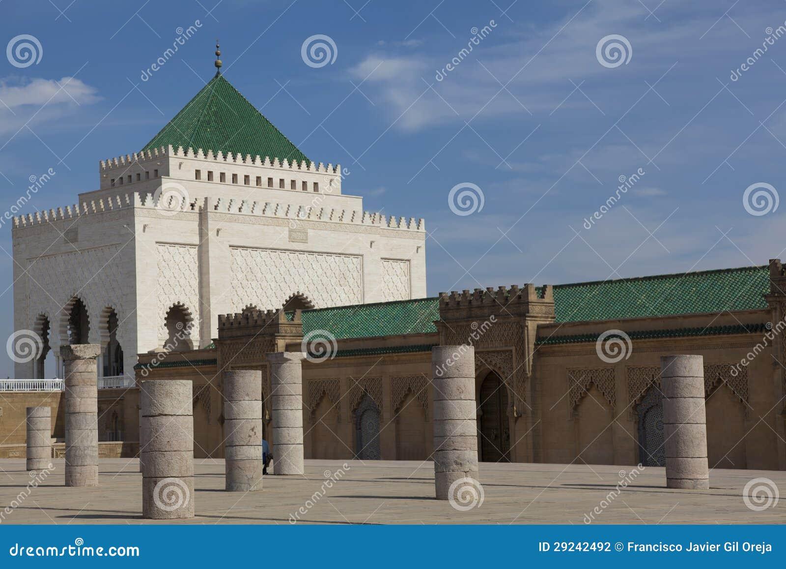 Download Mausoléu De Mohamed V, Rabat Foto de Stock - Imagem de muçulmanos, colunas: 29242492