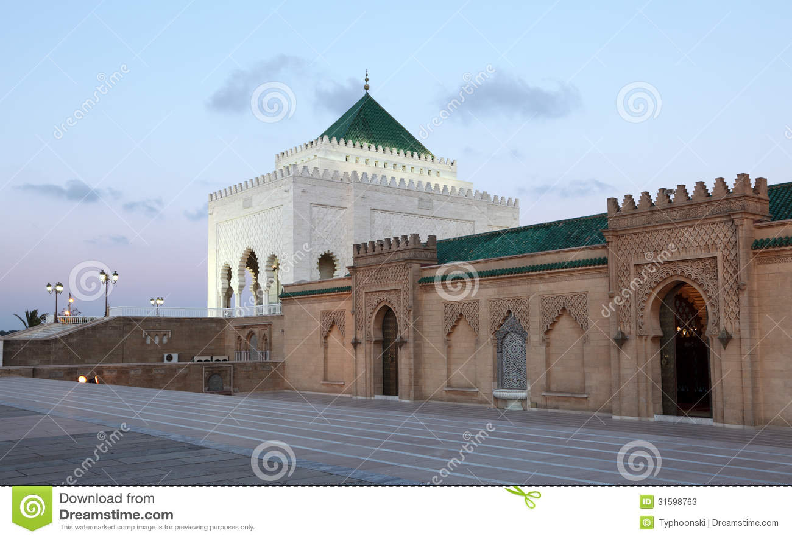 Mausoléu em Rabat, Marrocos