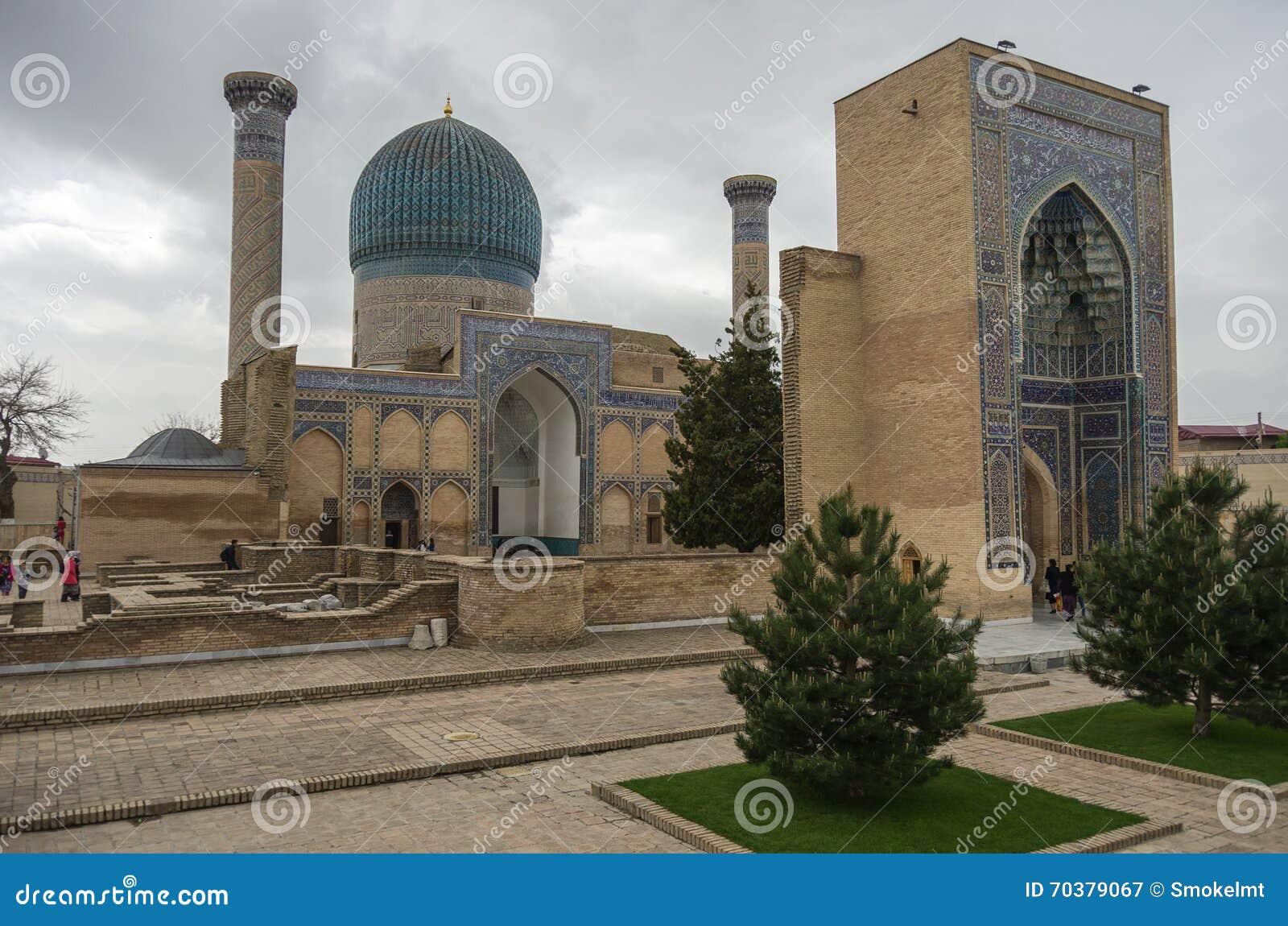 Mausoleo de Gur Emir del conquistador asiático Tamerlane (también conocido