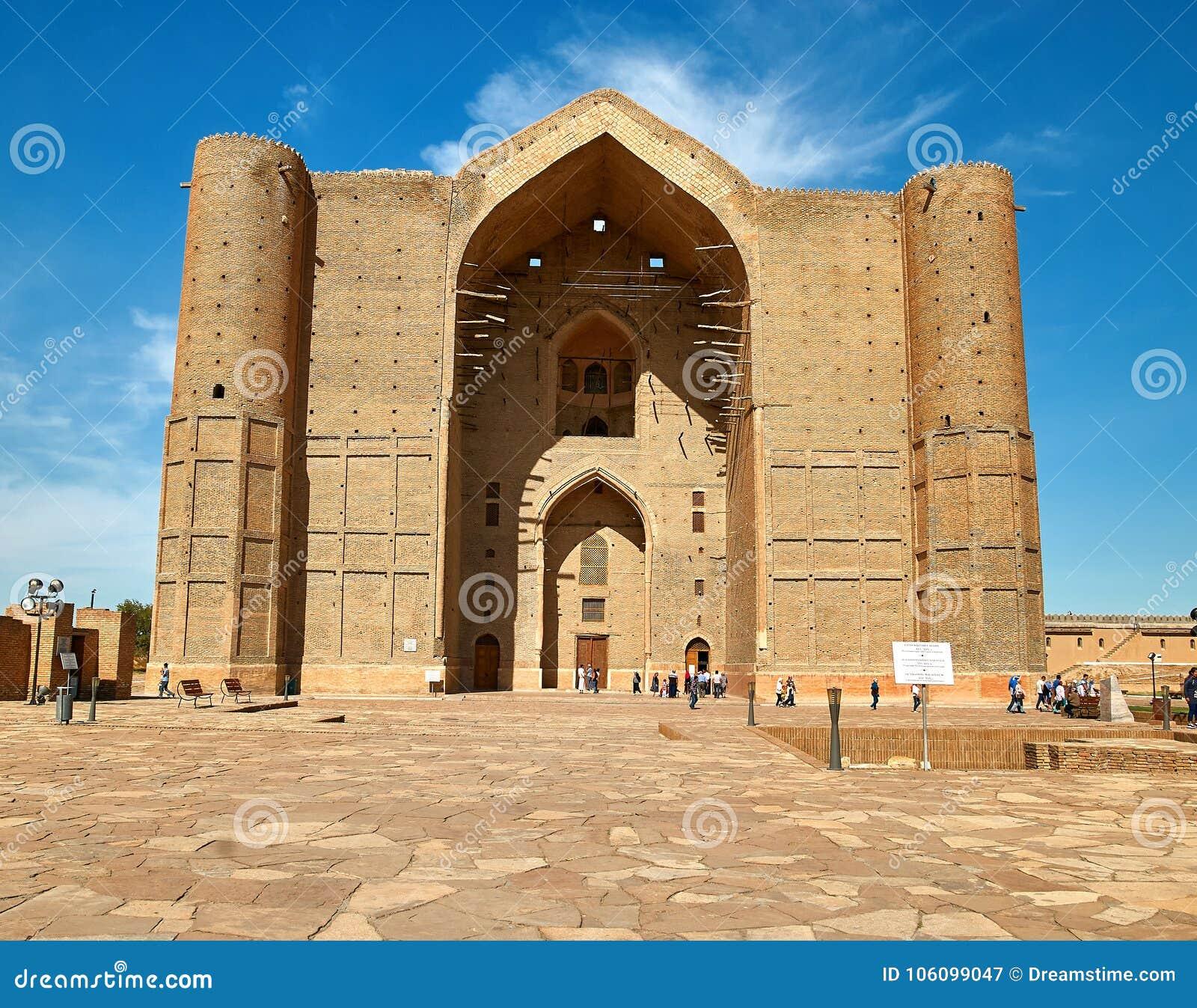 Mausoleum av Khoja Ahmed Yasawi, Turkestan, Kasakhstan