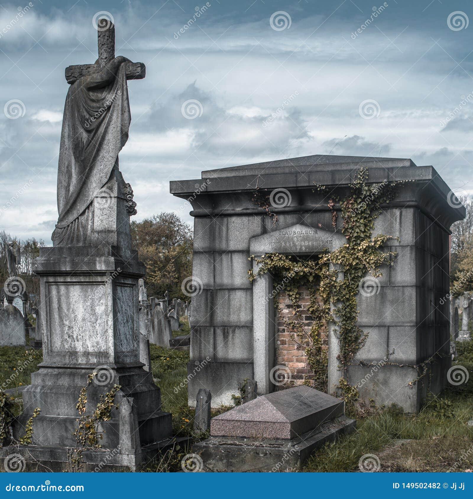 Mausoleum in de begraafplaats