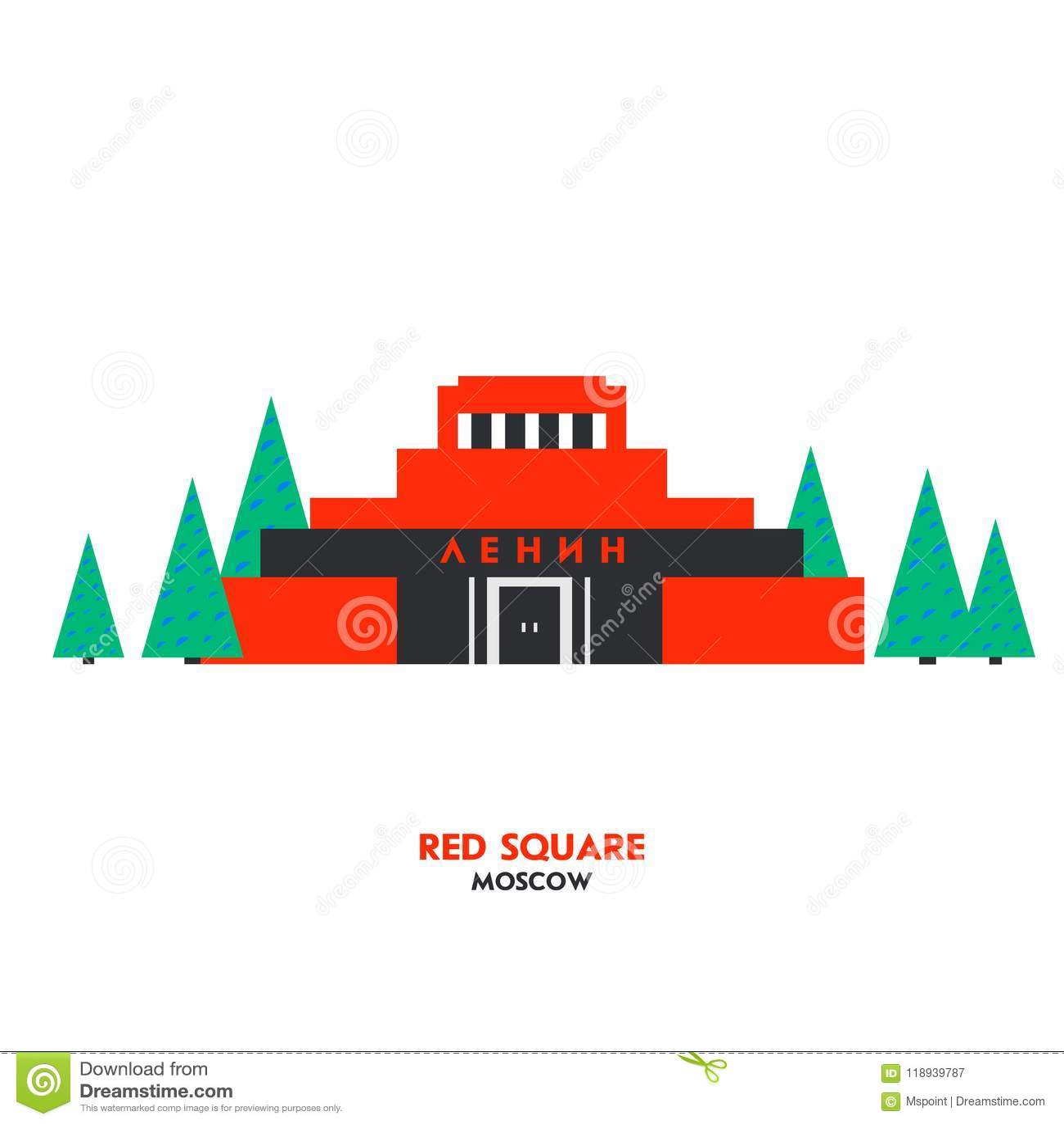 Mausoleum op rood vierkant in Moskou, Rusland Russisch oriëntatiepunt, symbool de USSR Plaats voor toeristen tijdens de reis