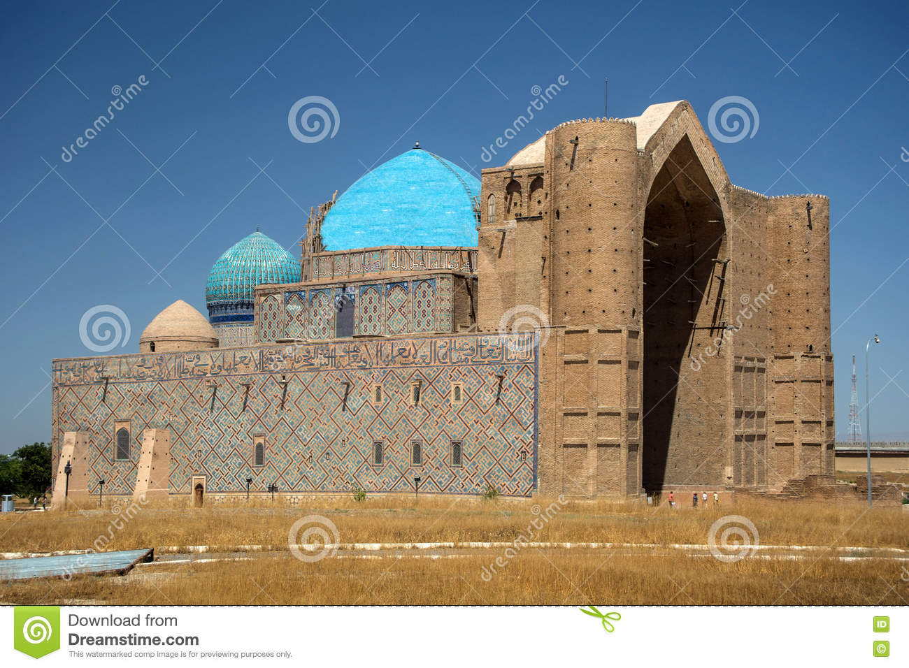 Mausoleum in Turkestan kazakhstan