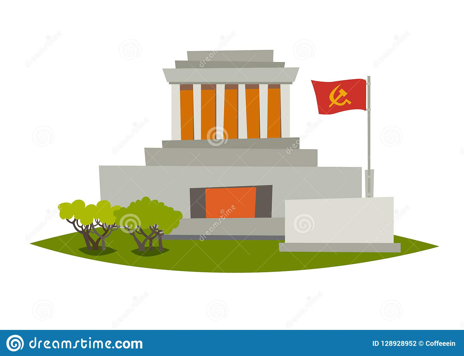 Mausoleum vectorillustratie Het Mausoleum van Ho Chi Minh in Hanoi