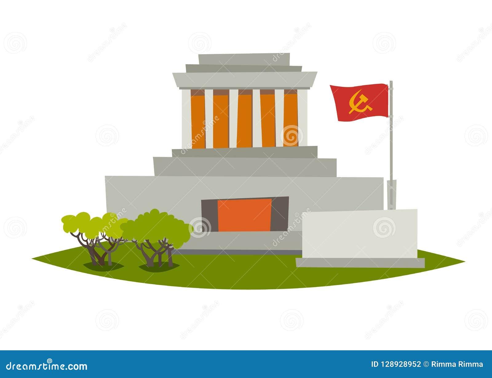 Mausoleumvektorillustration minh för mausoleum för chihanoi ho