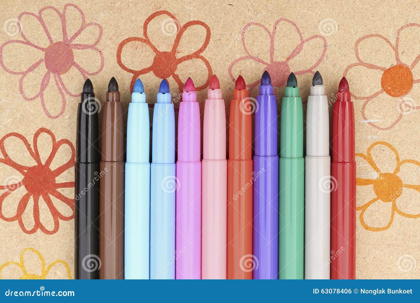 Download Maxi feutre multicolore photo stock. Image du écriture - 63078406