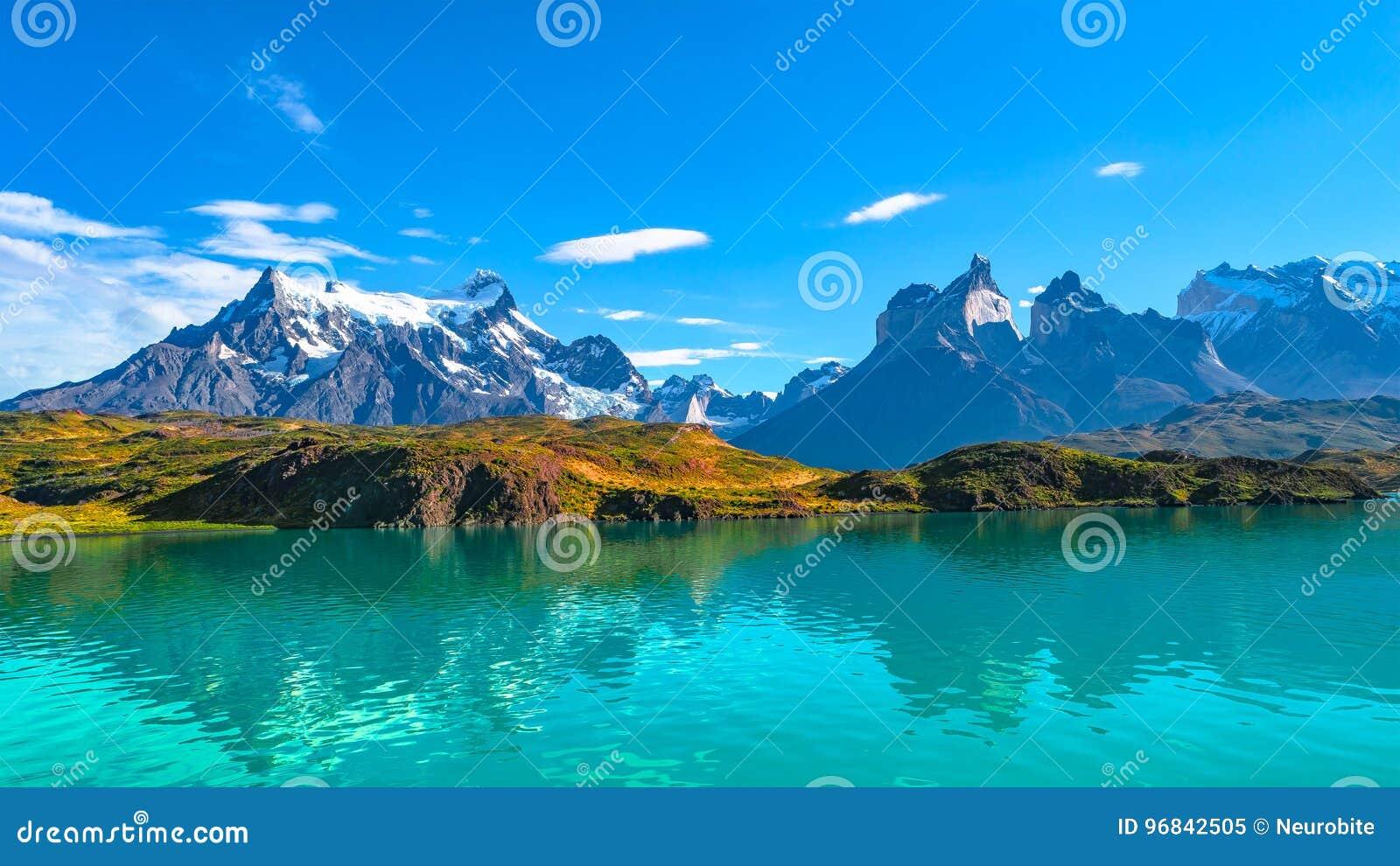 Maxima av Torres del Paine, nationalpark, Patagonia