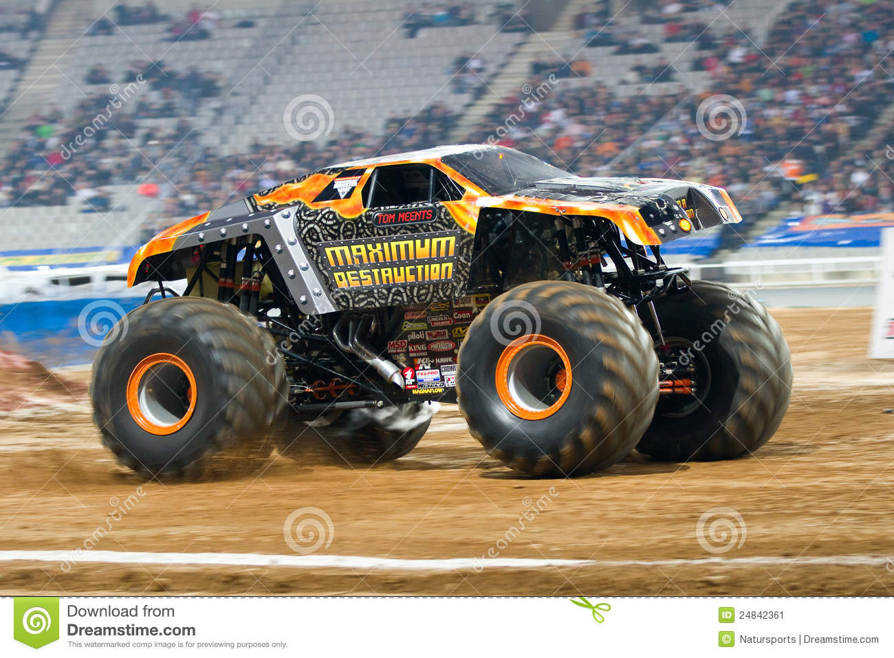 maximum destruction monster truck editorial photo image 24842361. Black Bedroom Furniture Sets. Home Design Ideas