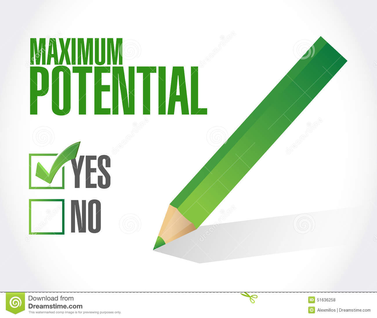 To Maximise The Potential Of: Maximum Potential Check Mark Sign Stock Illustration