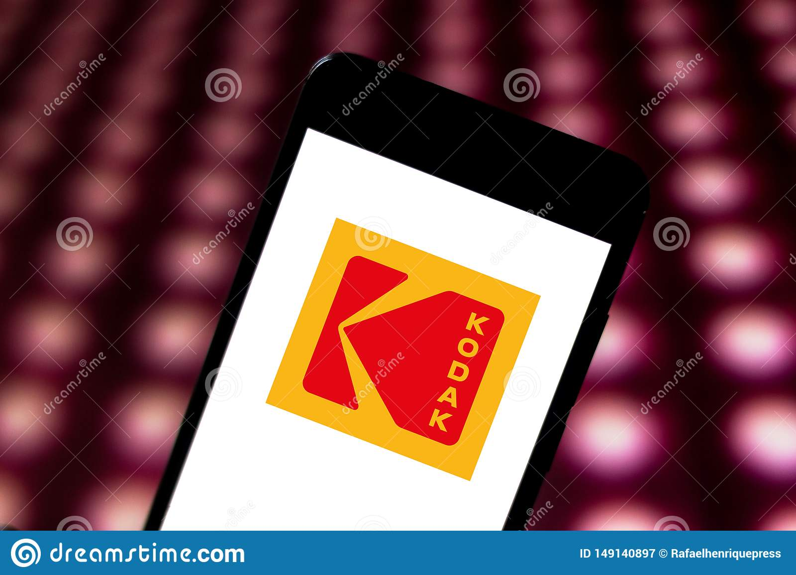 May 29 2019 Brazil In This Photo Illustration The Eastman Kodak Company Logo Is Displayed On A Smartphone Editorial Photography Image Of Economy Internet 149140897