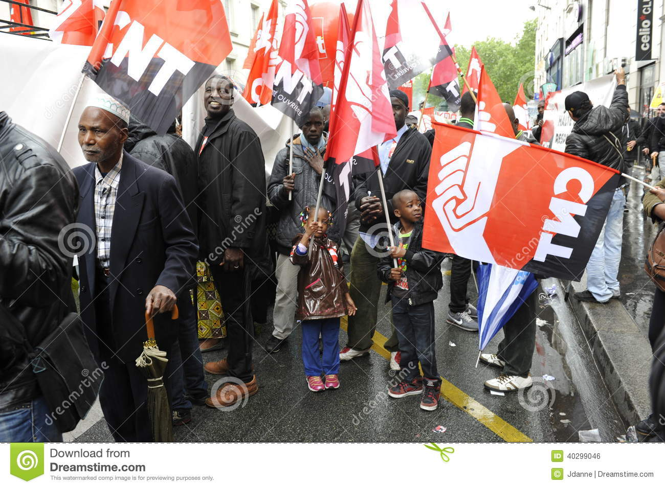 May Day Manifestation Paris CNT Unionists Editorial Photo Image Of Protest Labour