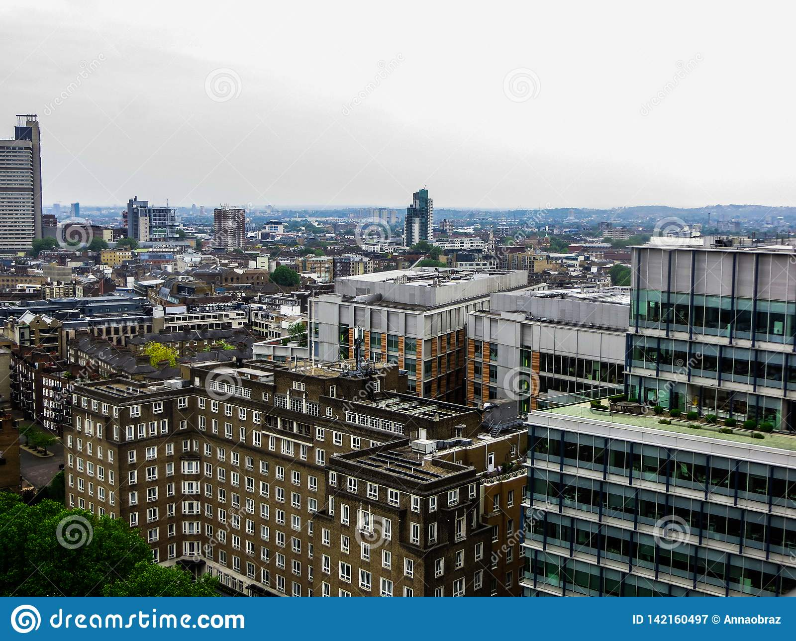 May 20, 2018, England. A panorama of London from the height of the observation deck of the Museum of Modern Art