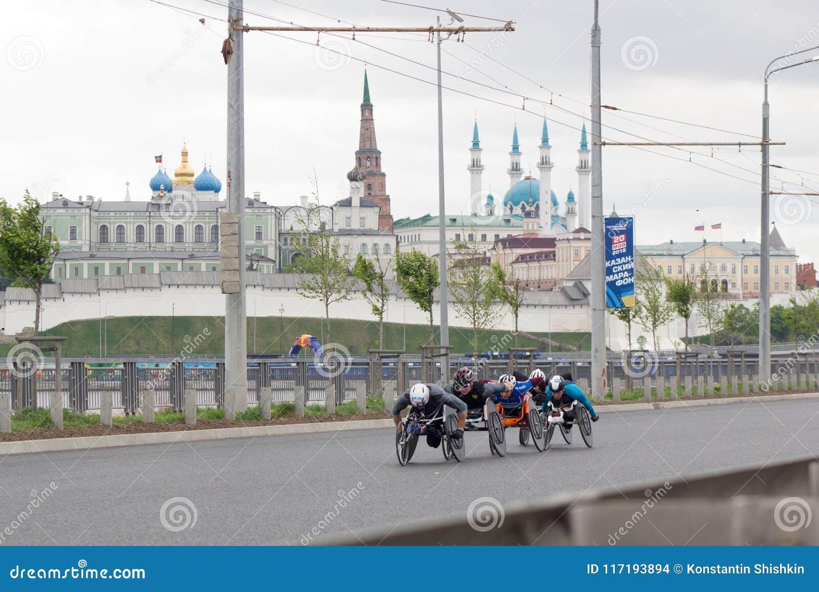 20 May 2018, Kazan, Russia - Kazan Marathon, Disabled ...