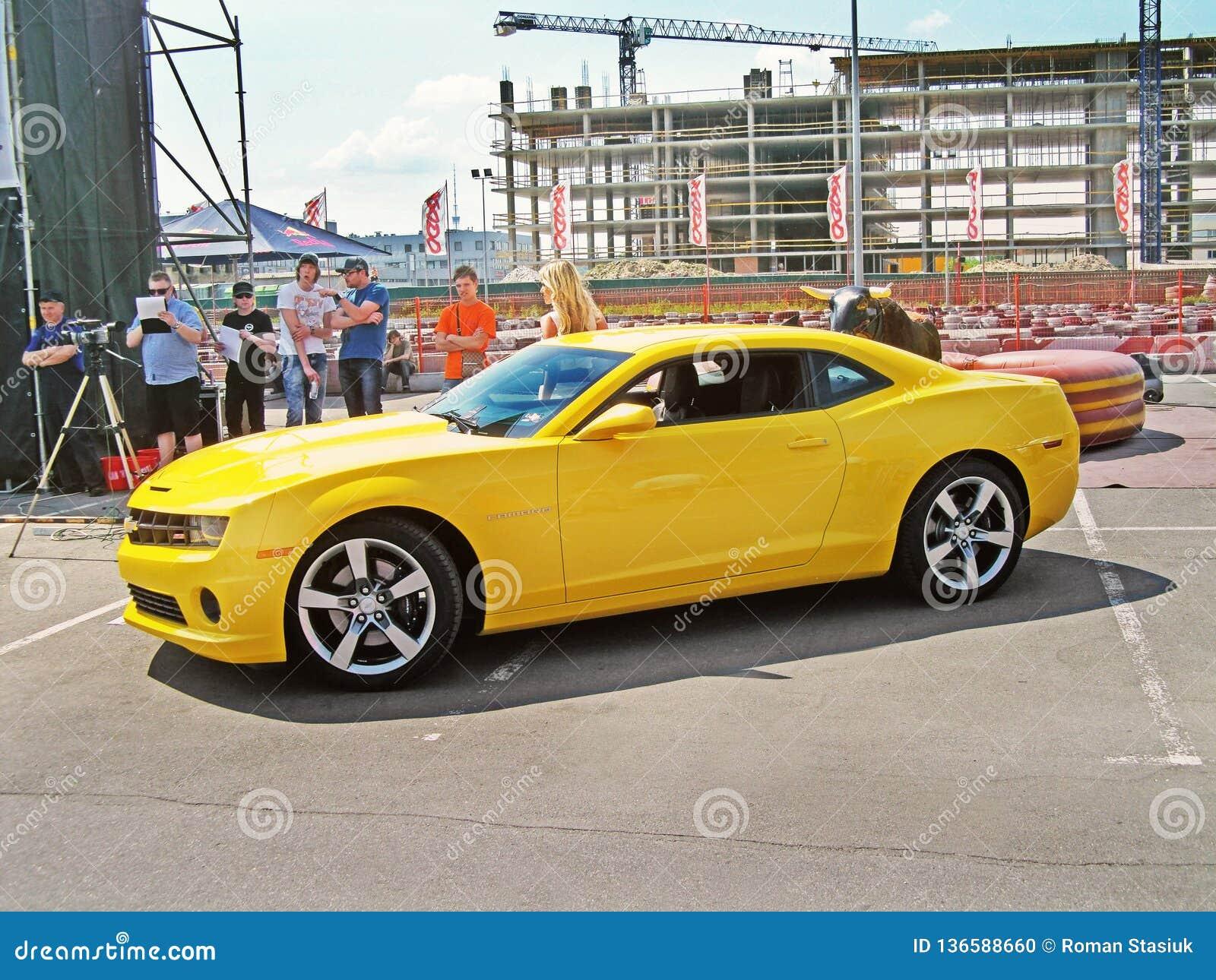 May 21 2011 Kiev Ukraine Chevrolet Camaro Ss In The City Editorial Image Image Of Camaro Detail 136588660