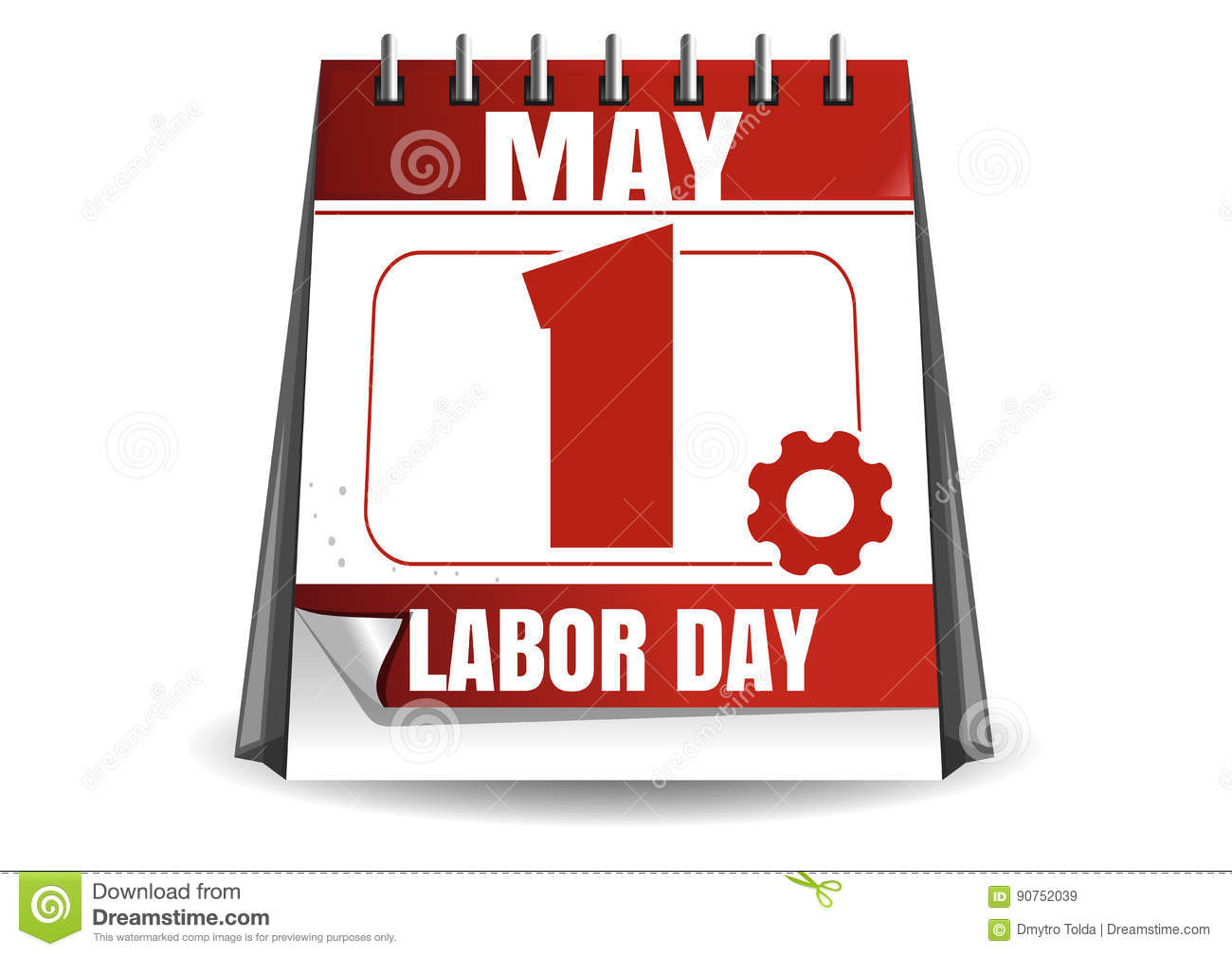 Calendar Labor Day : May labor day workers stock vector image