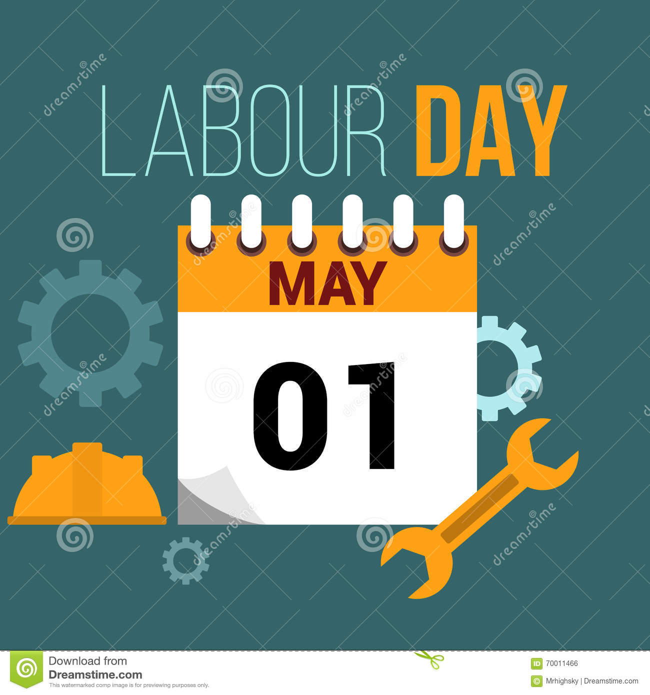 May 1 Labour Day Flat Style Illustration Stock Vector Illustration