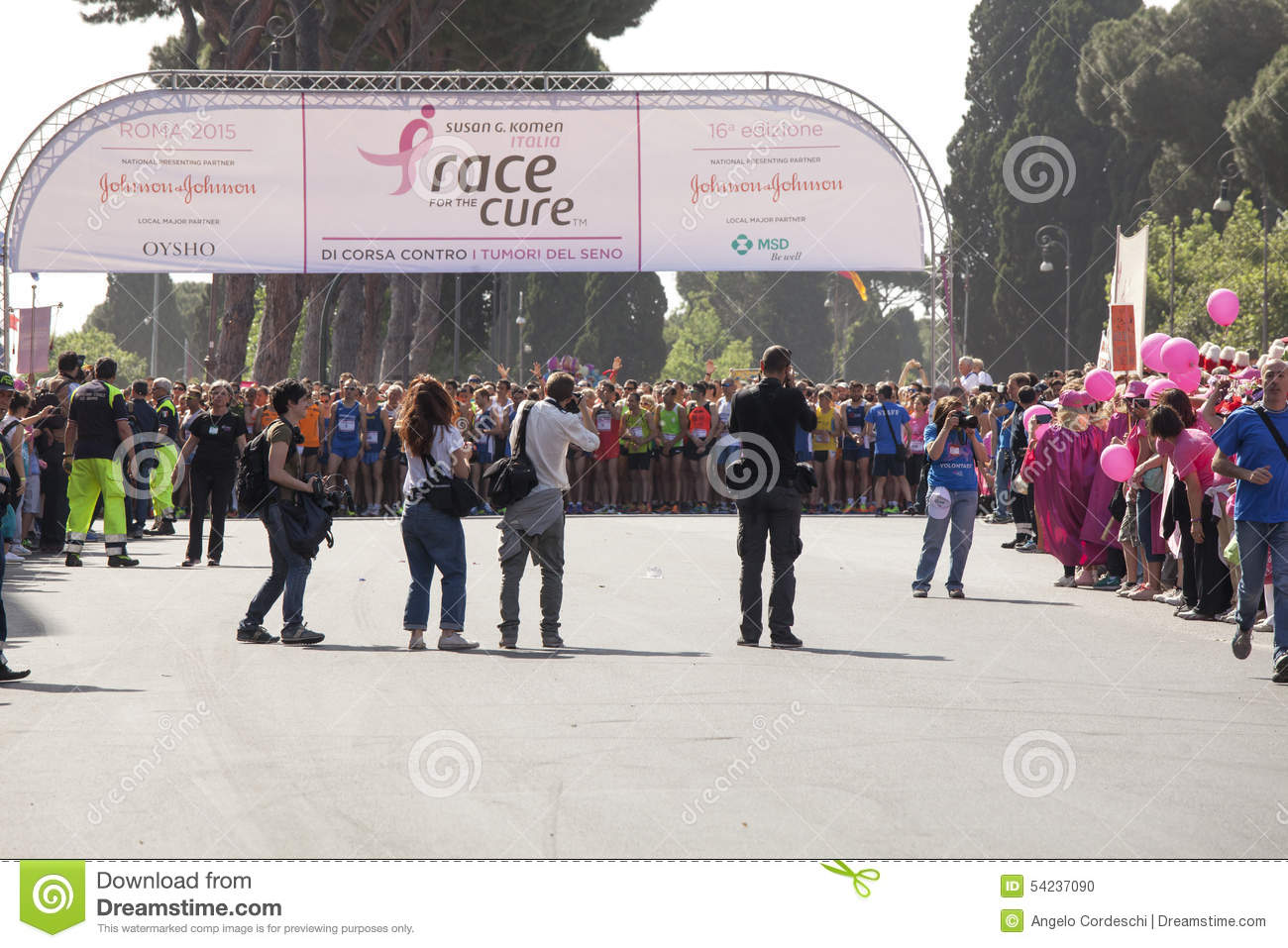 May 17, 2015. Race for the cure, Rome. Italy. Race against breast cancer.