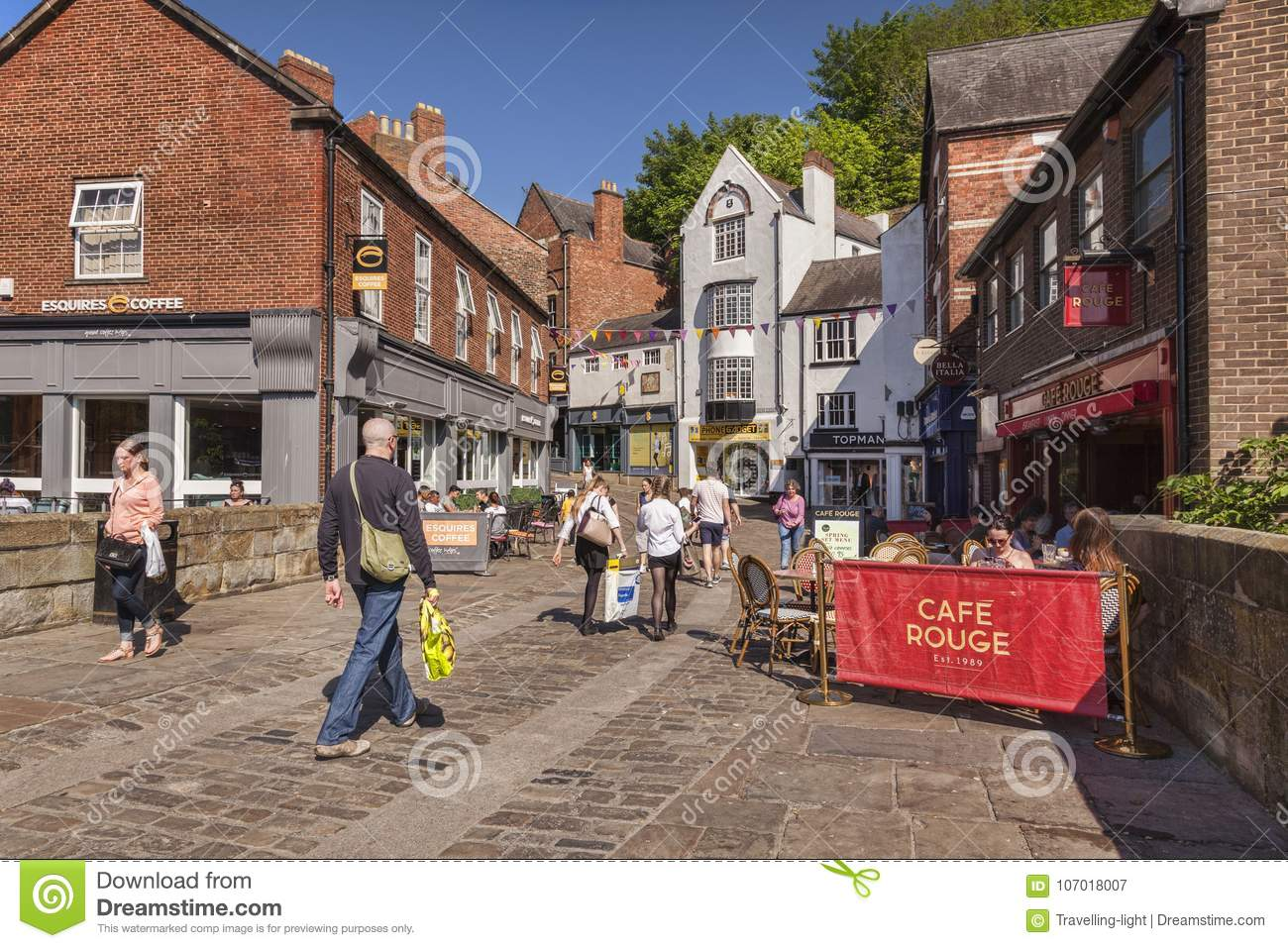 Durham City Shopping In Silver Street Editorial Photography Image