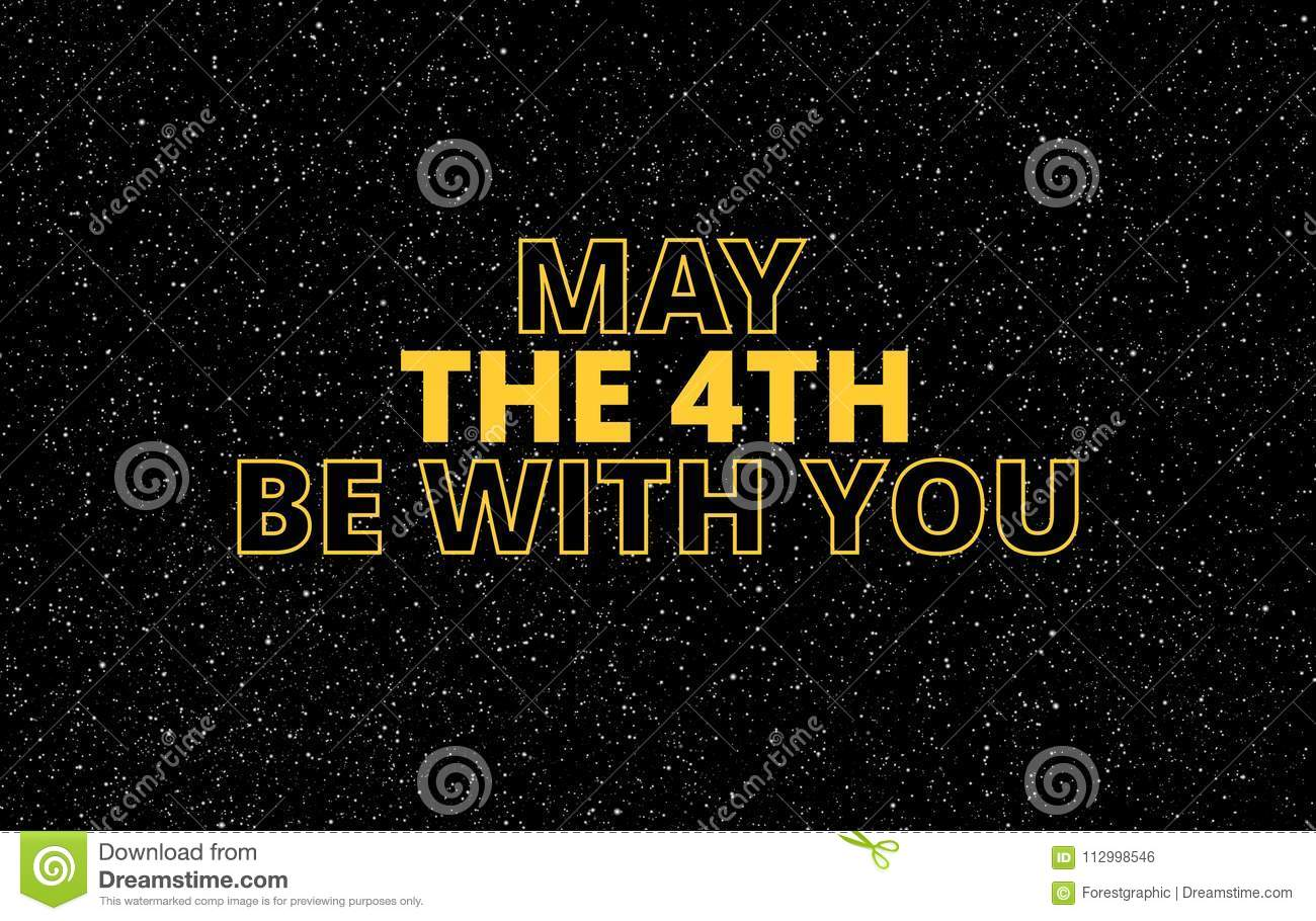 May Th Be You Holiday Greetings Vector Illustration Star The With