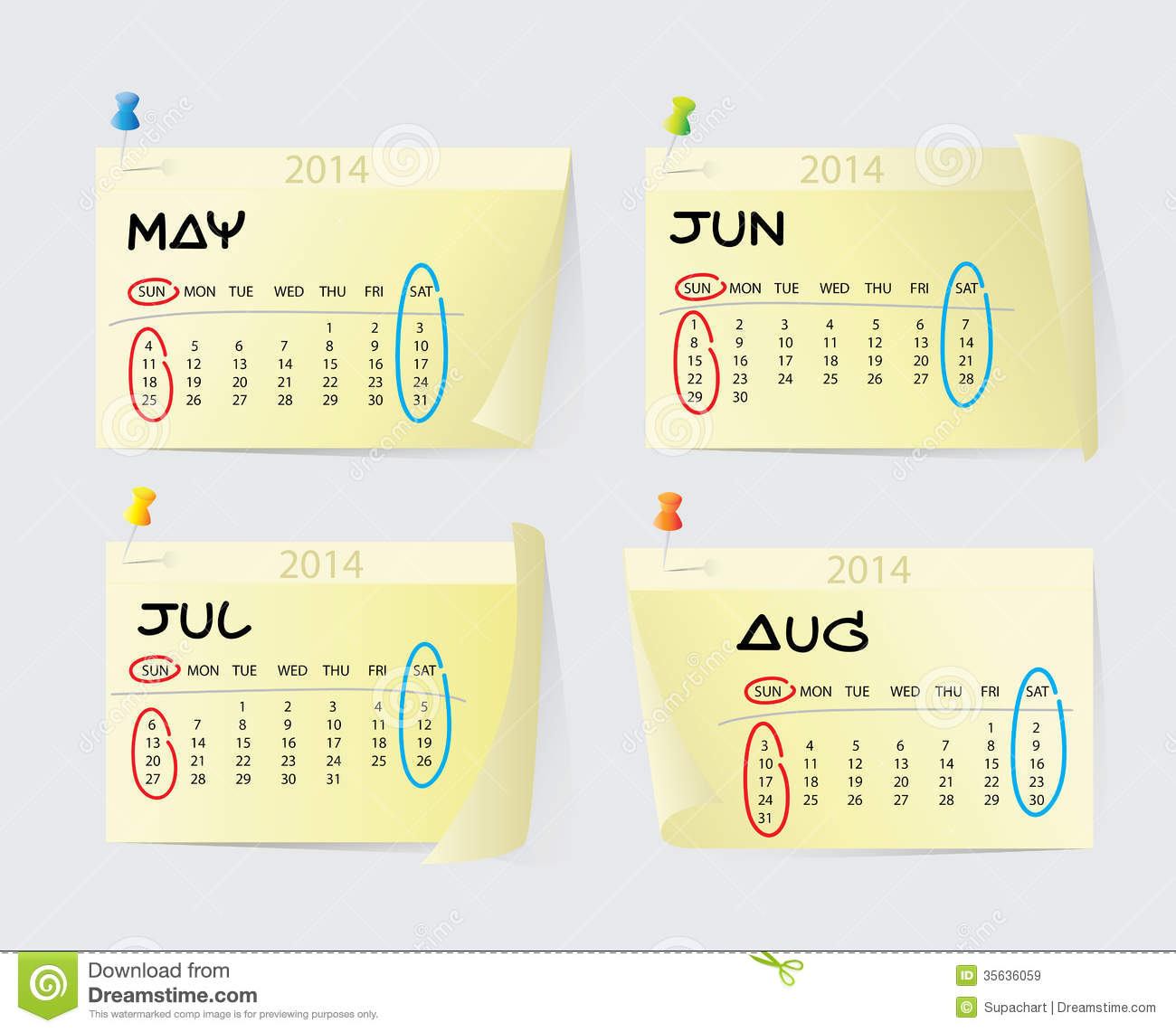 Xs Calendar May : May to august calendar royalty free stock images