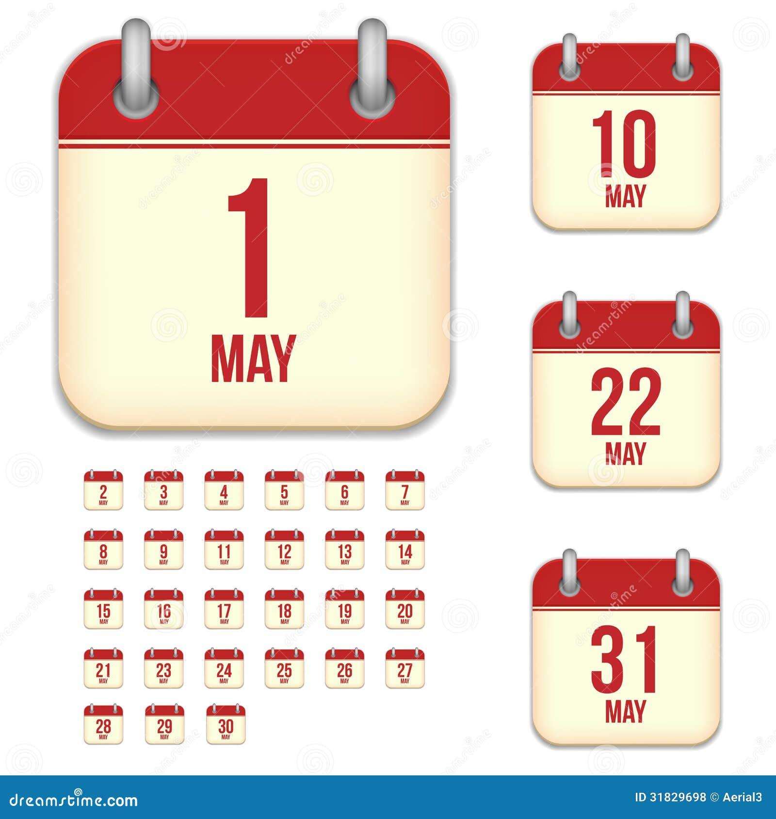 May Calendar Vector : May vector calendar icons royalty free stock photos