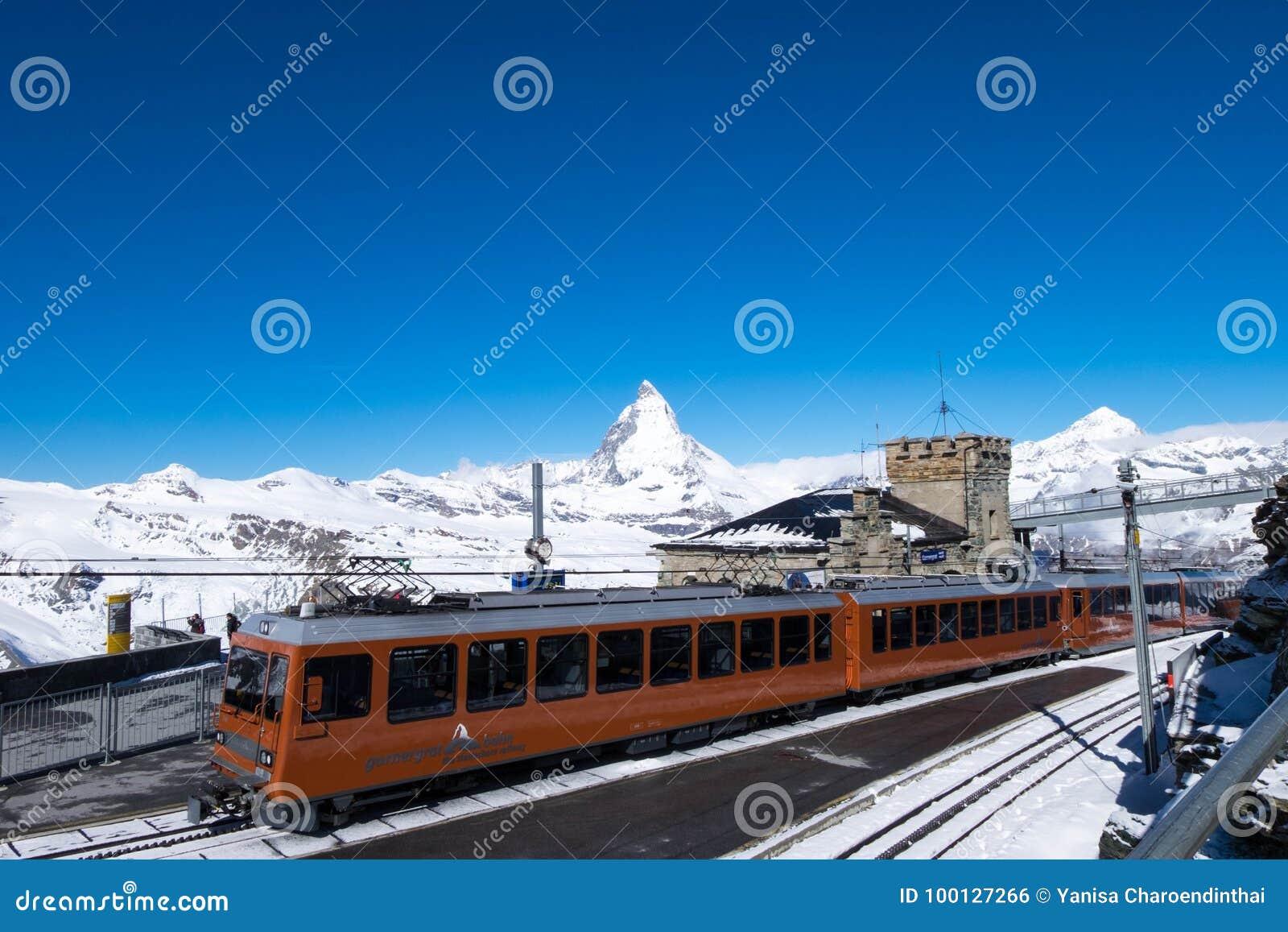 Gornergrat bahn, the only train where services travelers on Matterhorn railway.