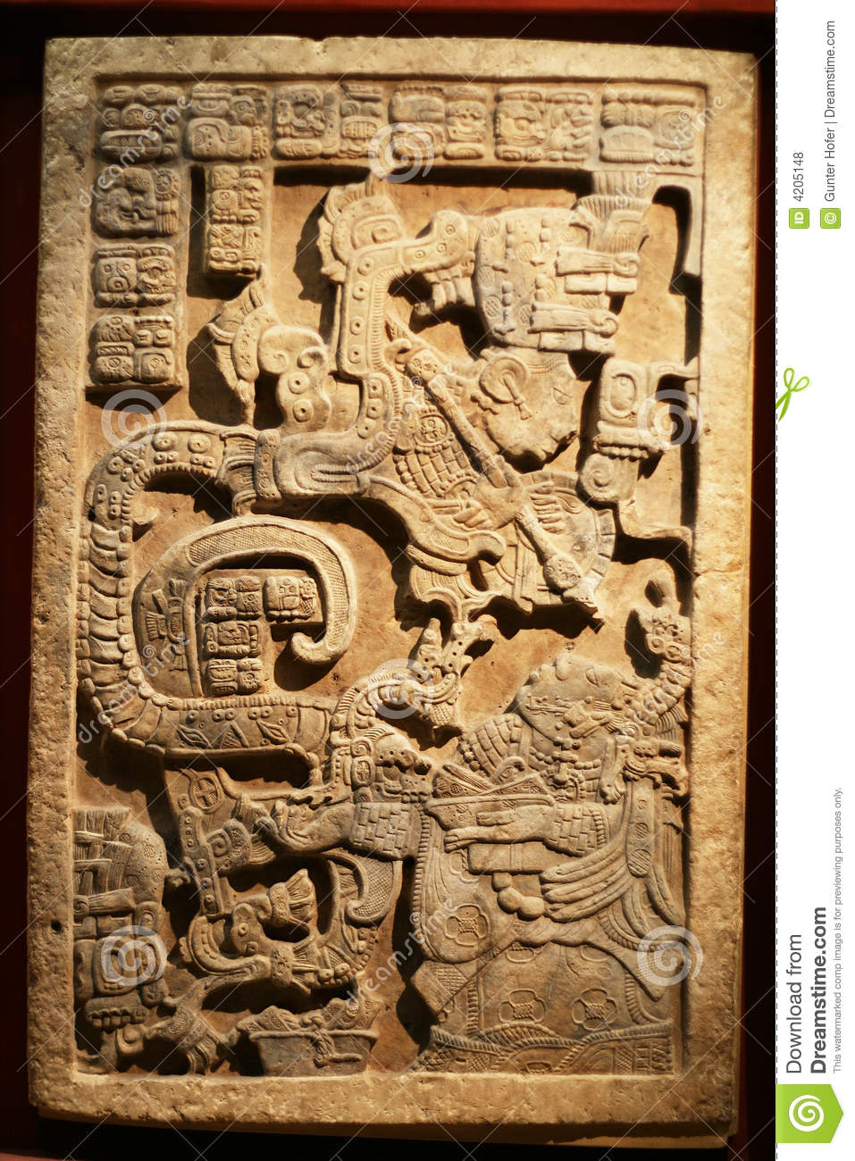 Maya Art Sculpture 2 Royalty Free Stock Photos - Image: 4205148