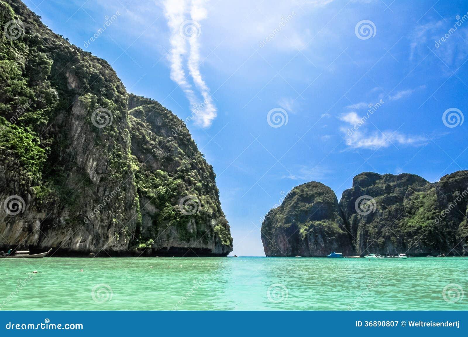 Download Maya Bay, Koh Phi Phi, Tailandia. Il Posto Da Essere. Immagine Stock - Immagine di esterno, laguna: 36890807