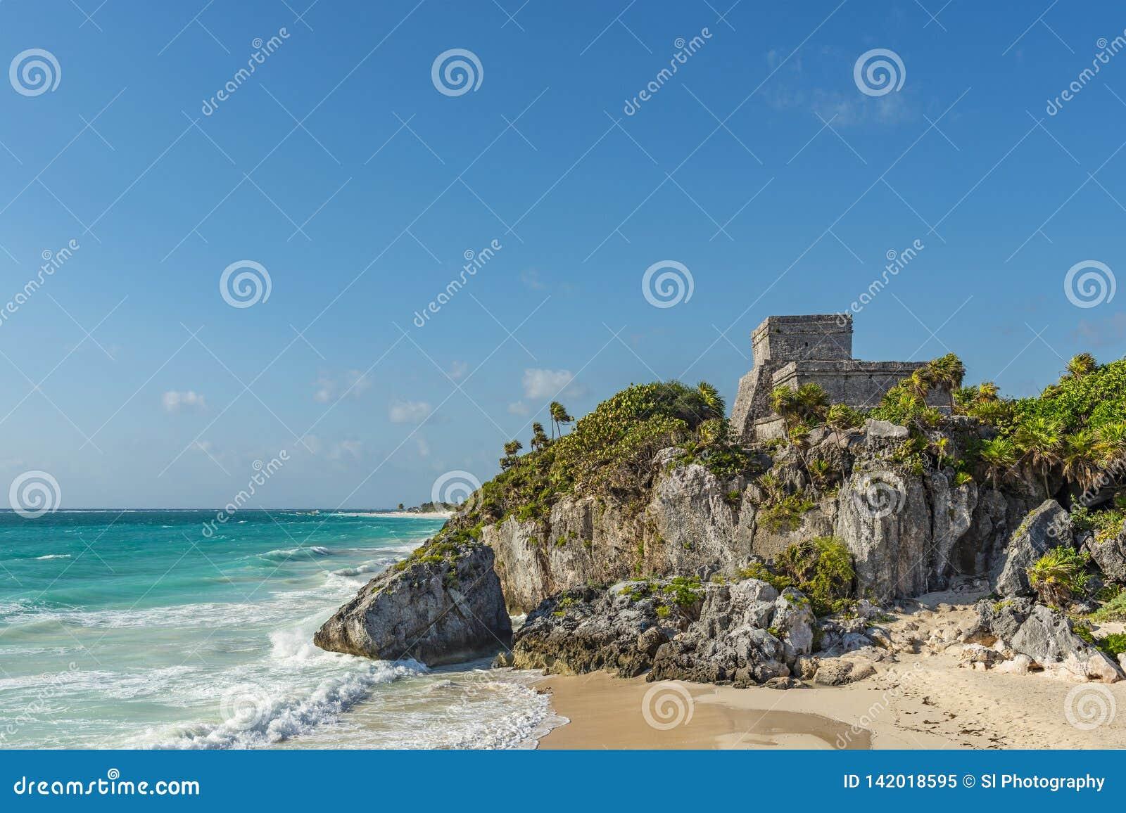Maya Ruin de Tulum, península del Yucatán, México