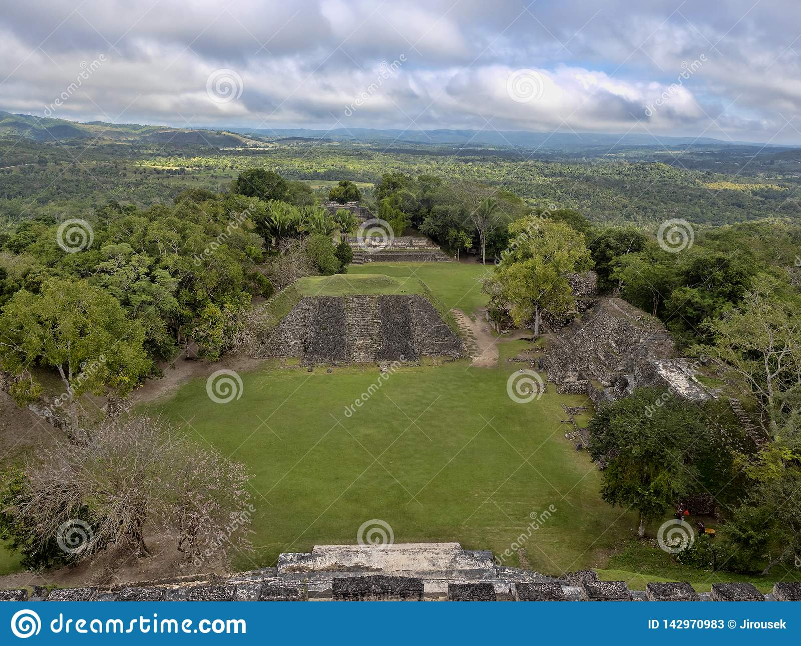 Mayan archaeological monuments of Xunantunich, Belize