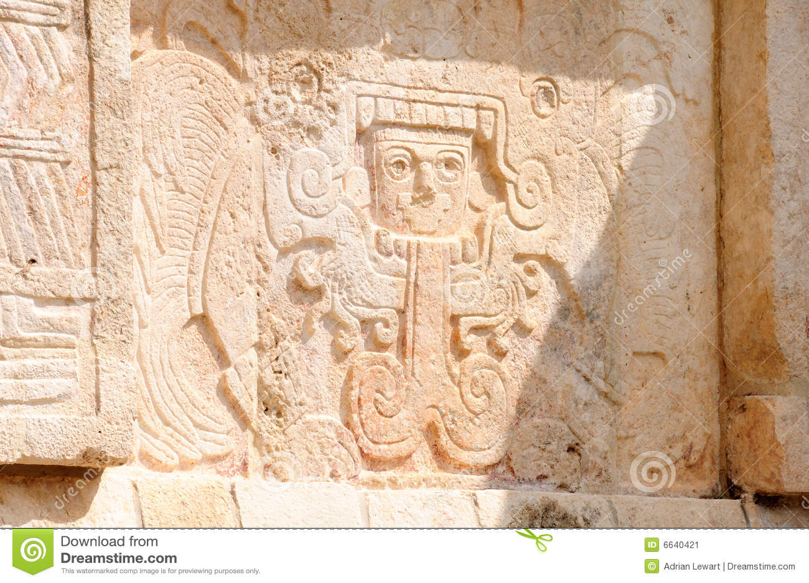Mayan art stock image of design stone ruins ruin
