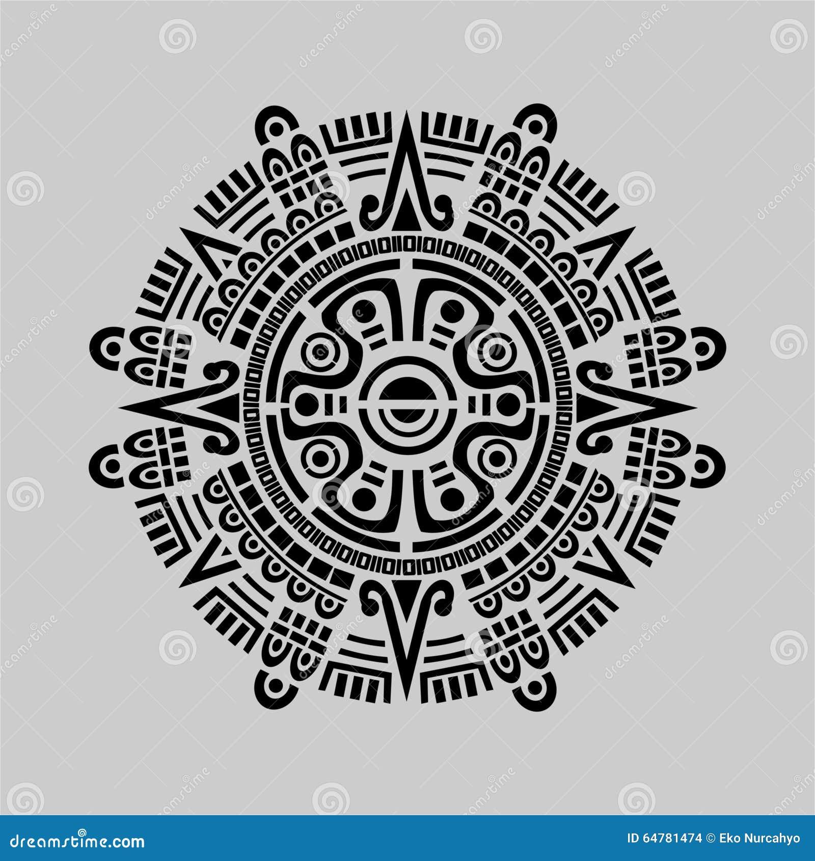 Mayan Calendar Vector Stock Vector - Image: 64781474