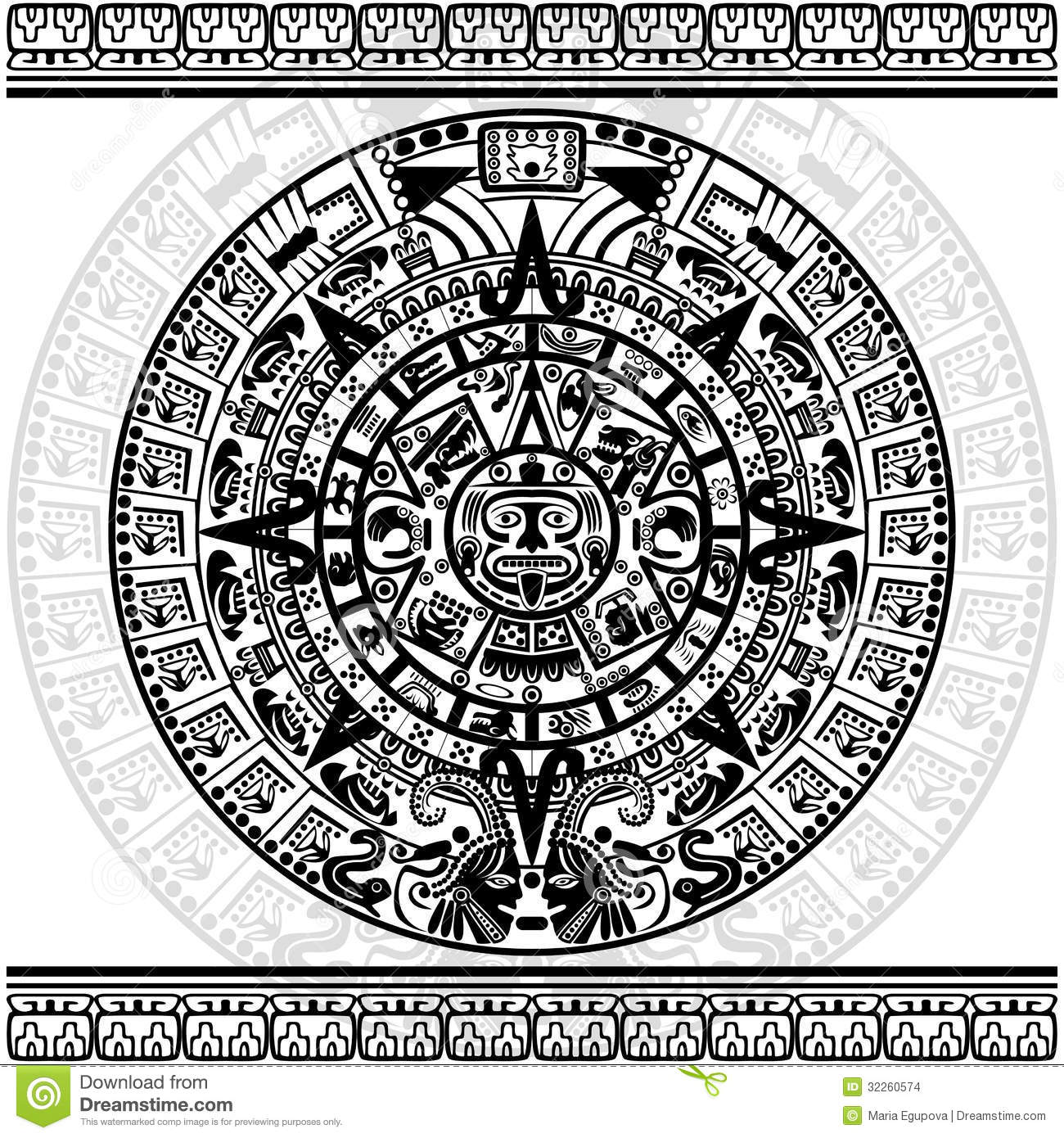 What does the mayan calendar look like