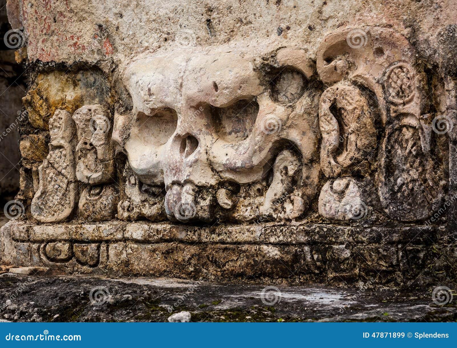 Mayan stone carvings stock photo cartoondealer