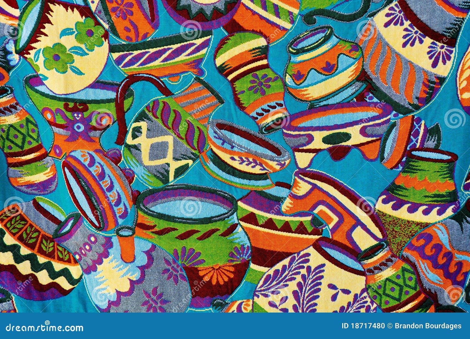 Mayan Colorful Vase Pattern Stock Photo - Image: 18717480