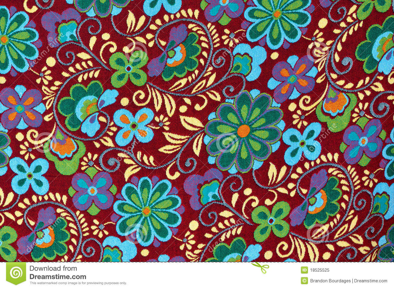 Mayan Floral Pattern Background Stock Image Image Of